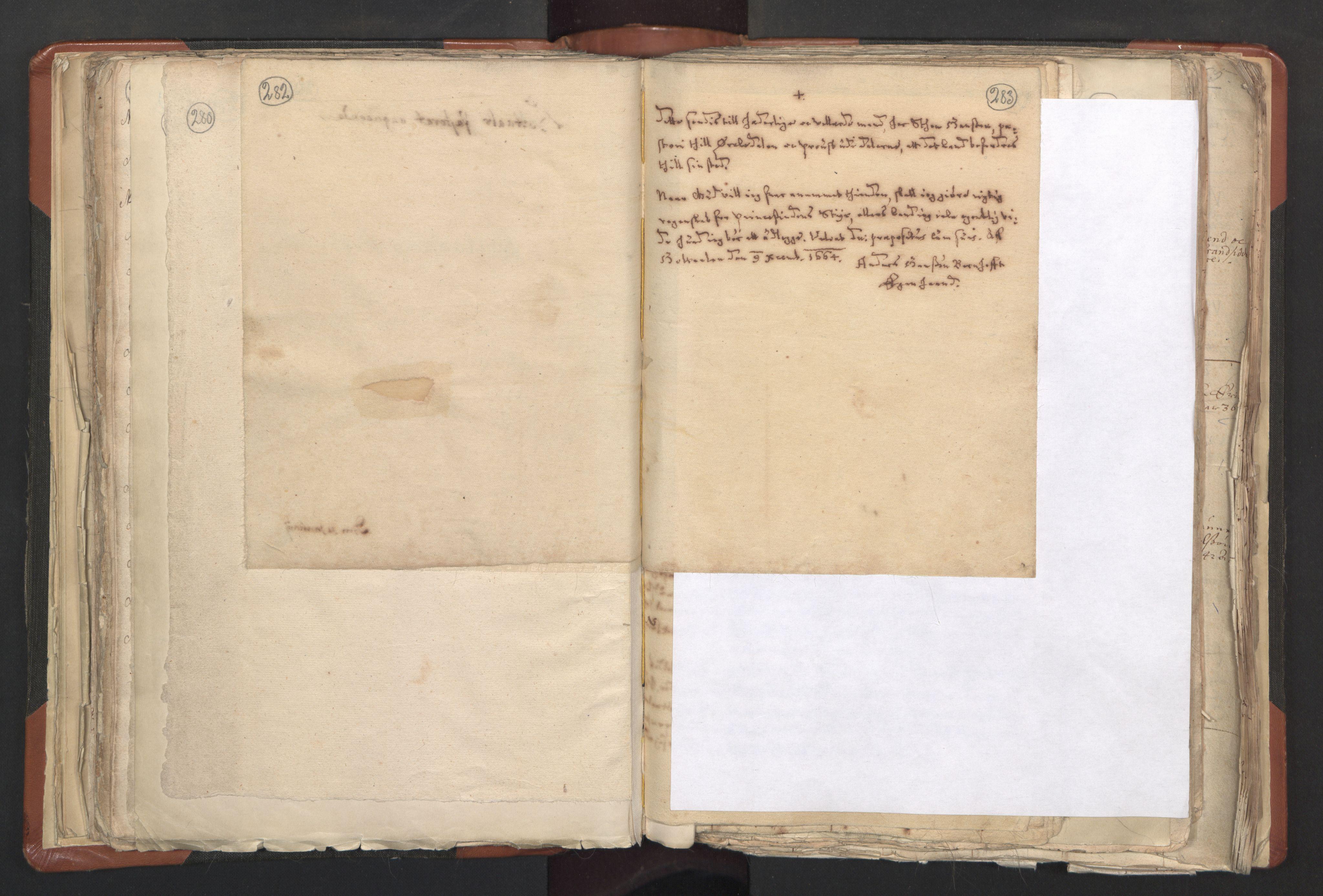 RA, Sogneprestenes manntall 1664-1666, nr. 31: Dalane prosti, 1664-1666, s. 282-283