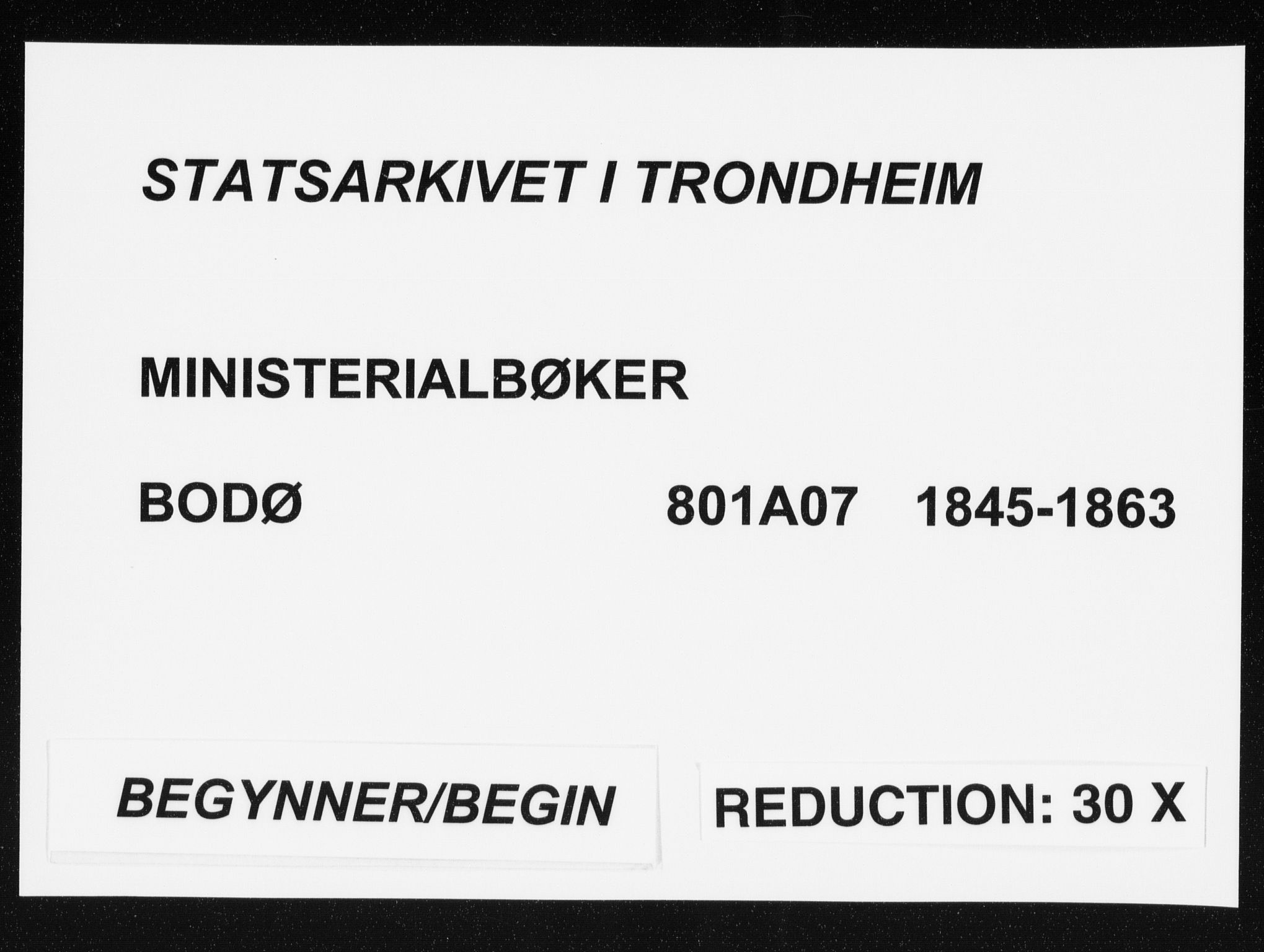 SAT, Ministerialprotokoller, klokkerbøker og fødselsregistre - Nordland, 801/L0007: Ministerialbok nr. 801A07, 1845-1863