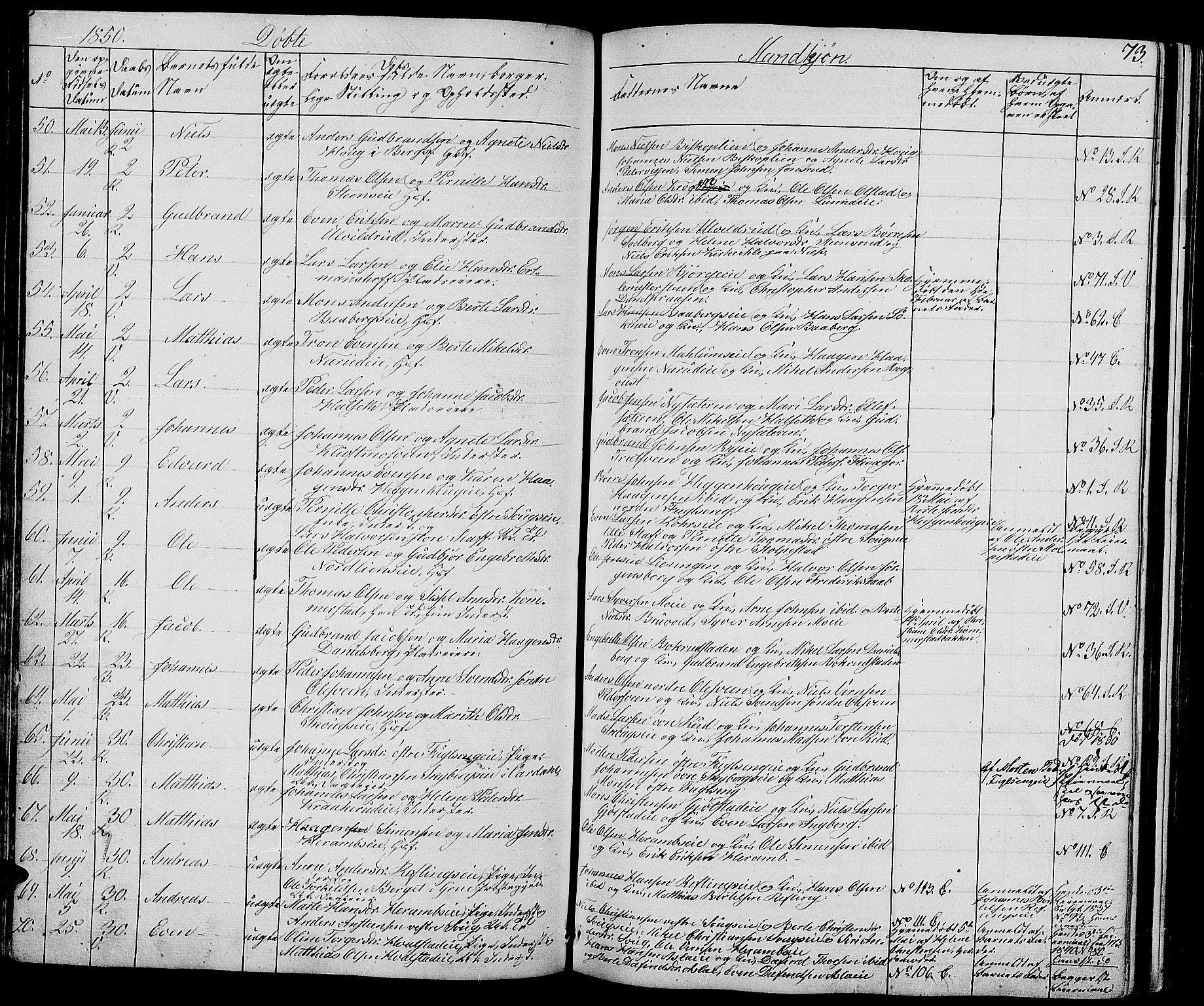 SAH, Ringsaker prestekontor, L/La/L0005: Klokkerbok nr. 5, 1839-1850, s. 73