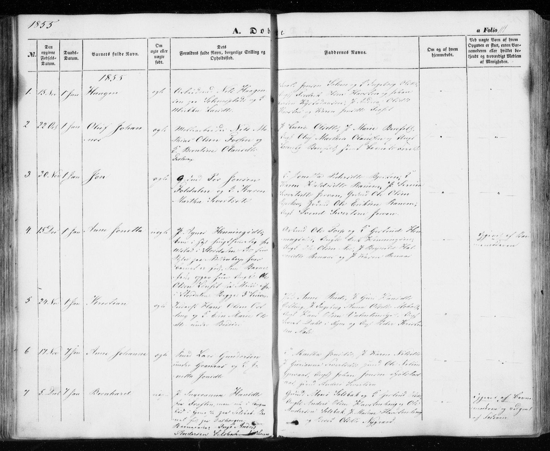 SAT, Ministerialprotokoller, klokkerbøker og fødselsregistre - Sør-Trøndelag, 606/L0291: Ministerialbok nr. 606A06, 1848-1856, s. 111