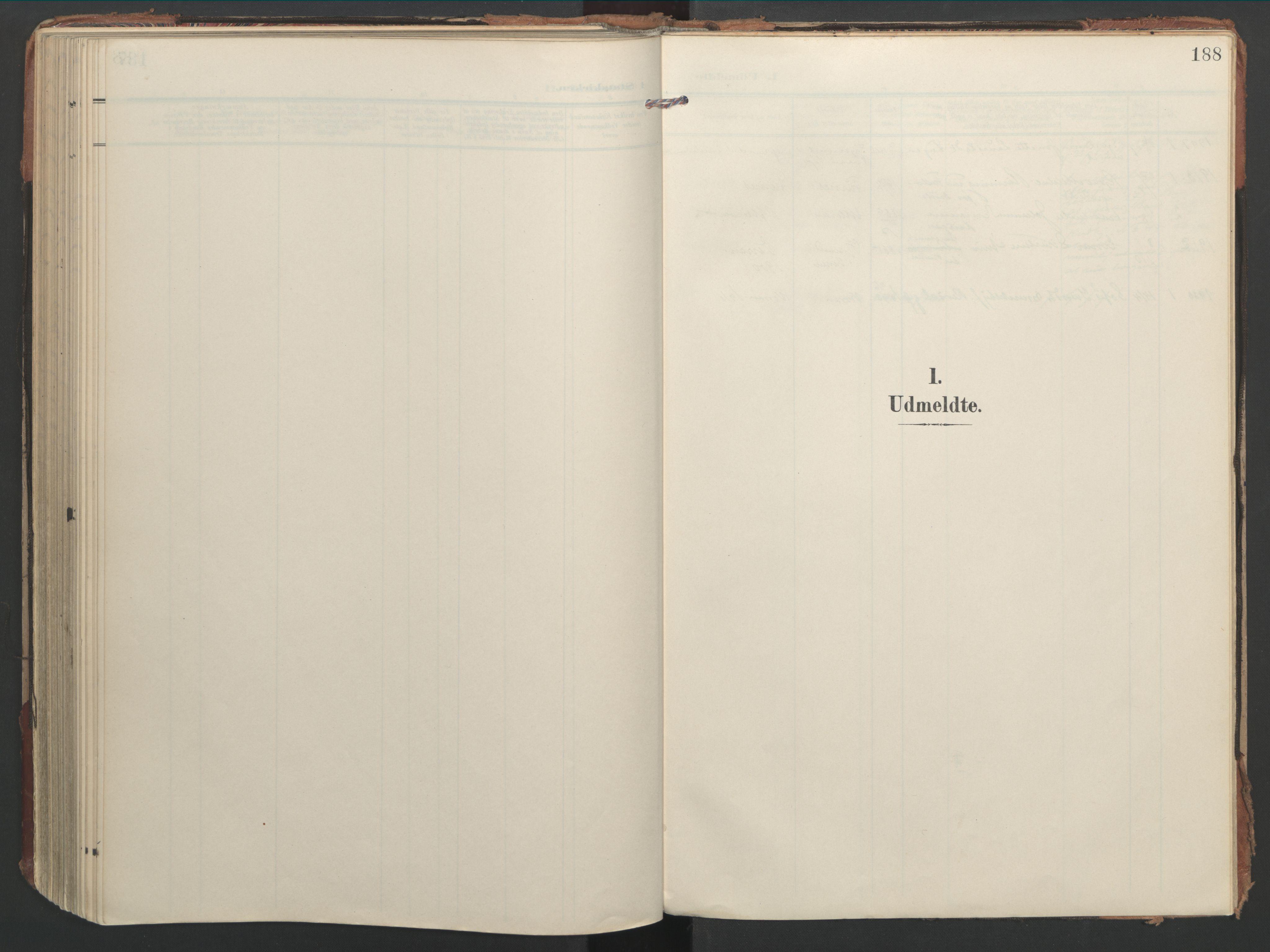 SAT, Ministerialprotokoller, klokkerbøker og fødselsregistre - Nord-Trøndelag, 744/L0421: Ministerialbok nr. 744A05, 1905-1930, s. 188