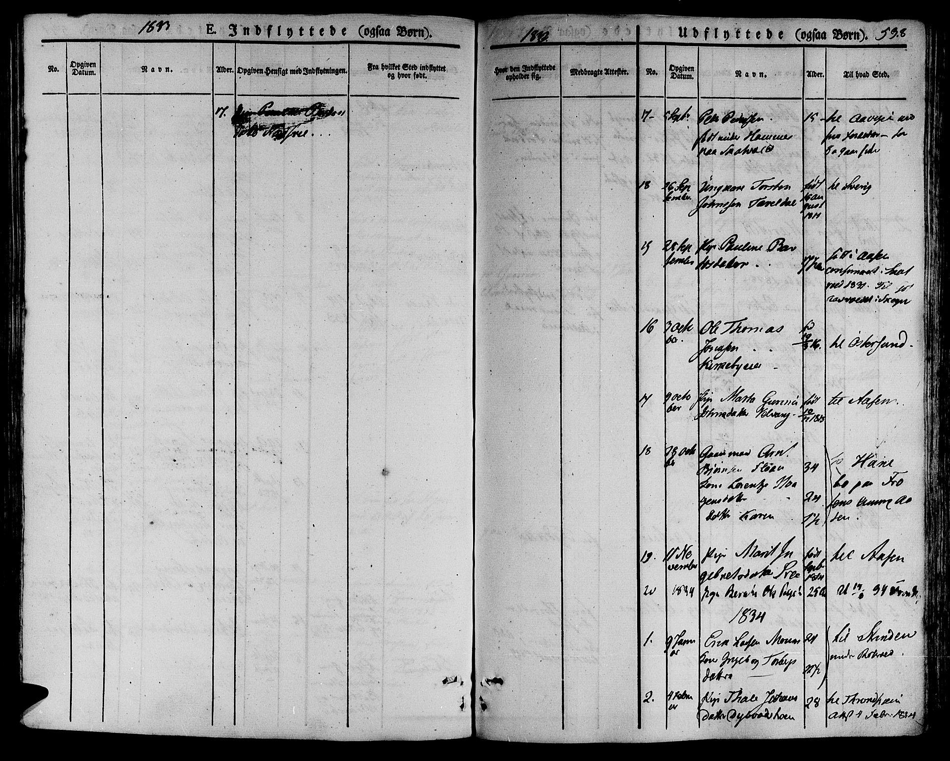 SAT, Ministerialprotokoller, klokkerbøker og fødselsregistre - Nord-Trøndelag, 709/L0072: Ministerialbok nr. 709A12, 1833-1844, s. 538