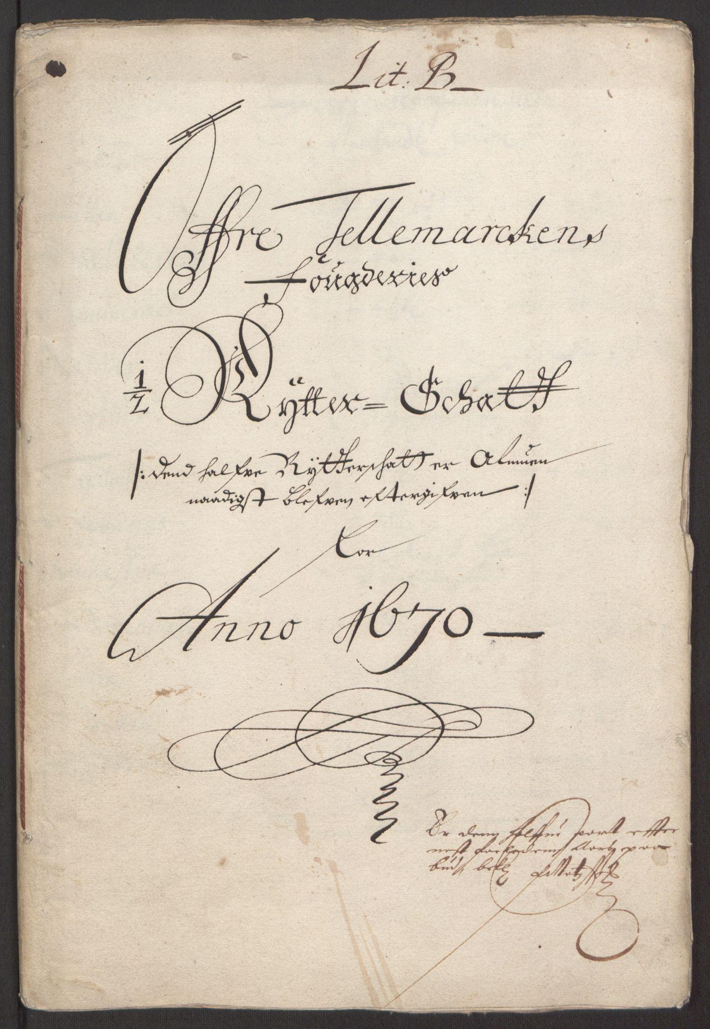 RA, Rentekammeret inntil 1814, Reviderte regnskaper, Fogderegnskap, R35/L2059: Fogderegnskap Øvre og Nedre Telemark, 1668-1670, s. 124