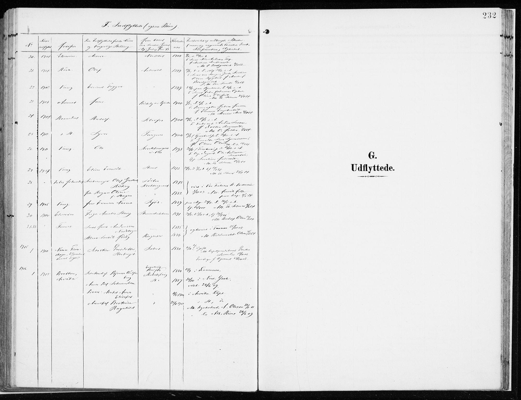 SAH, Løten prestekontor, K/Ka/L0011: Ministerialbok nr. 11, 1908-1917, s. 232