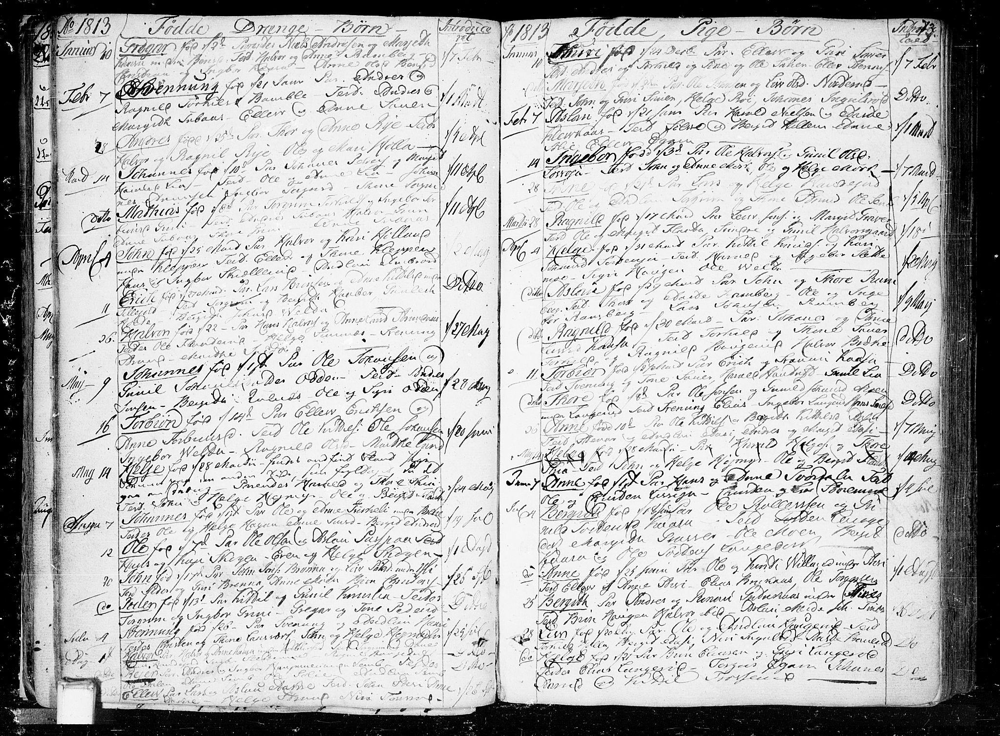 SAKO, Heddal kirkebøker, F/Fa/L0004: Ministerialbok nr. I 4, 1784-1814, s. 73