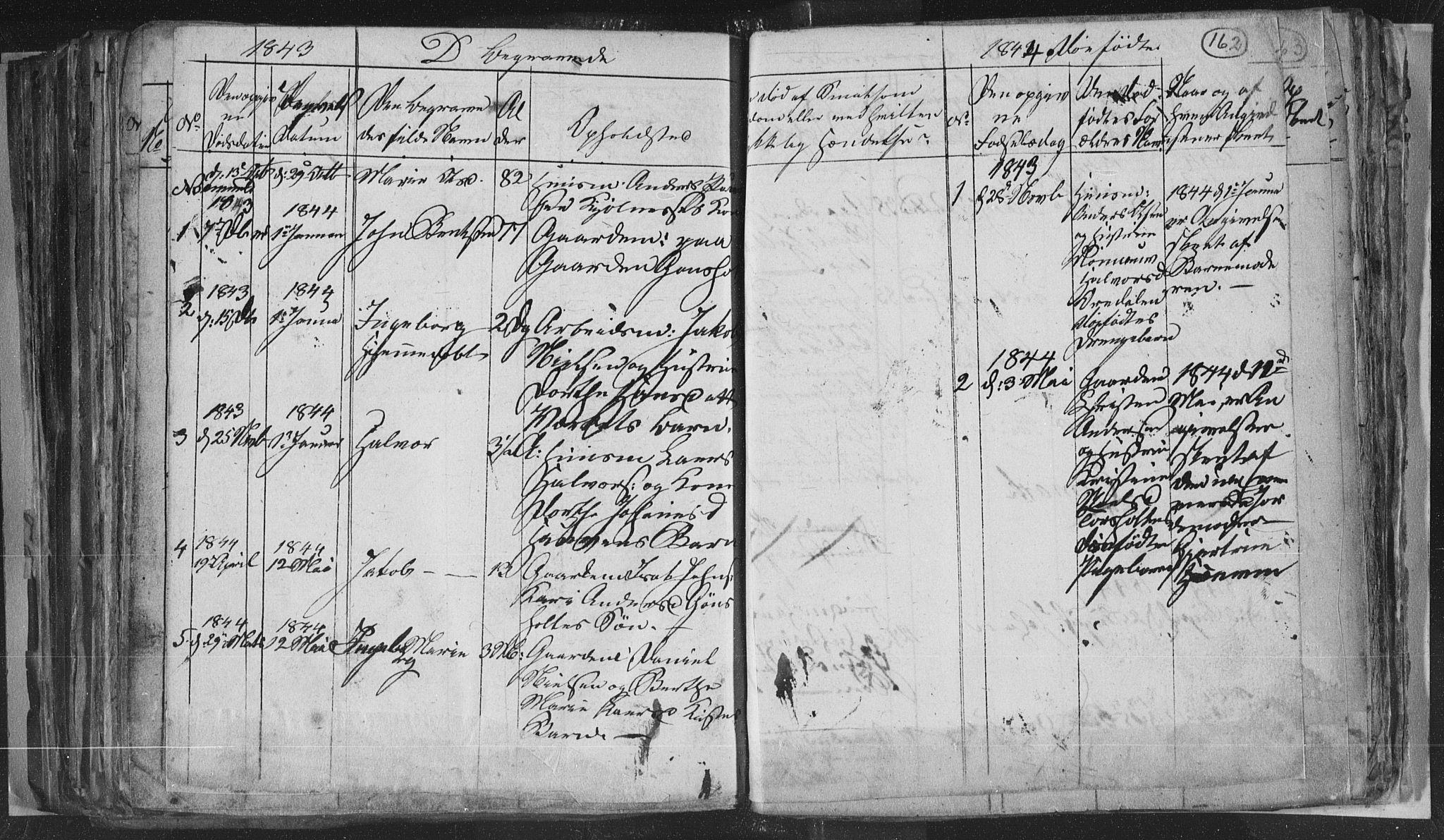 SAKO, Siljan kirkebøker, G/Ga/L0001: Klokkerbok nr. 1, 1827-1847, s. 162