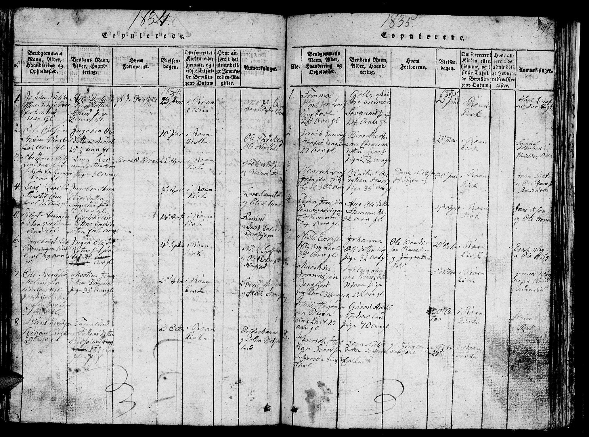 SAT, Ministerialprotokoller, klokkerbøker og fødselsregistre - Sør-Trøndelag, 657/L0714: Klokkerbok nr. 657C01, 1818-1868, s. 197