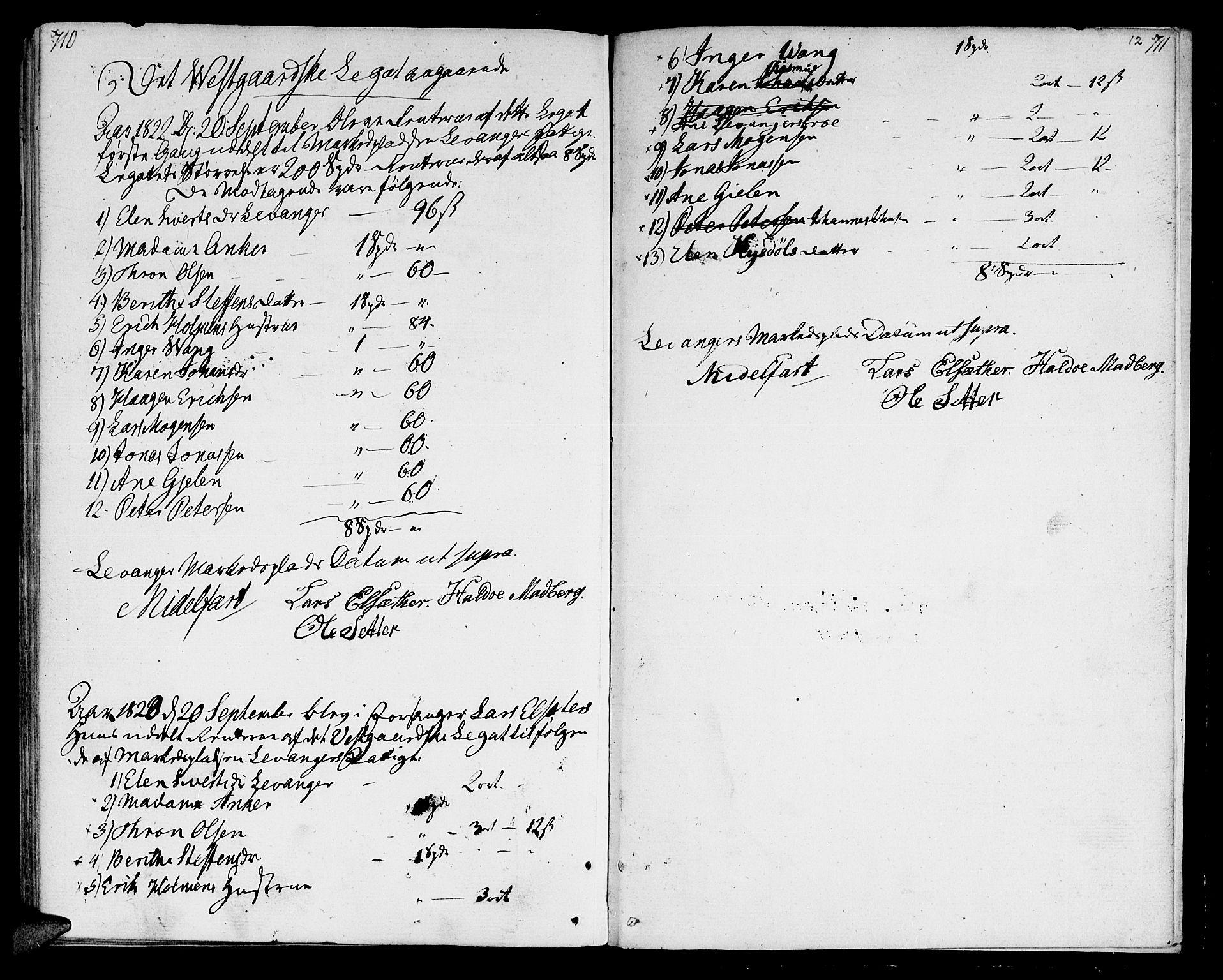 SAT, Ministerialprotokoller, klokkerbøker og fødselsregistre - Nord-Trøndelag, 717/L0145: Ministerialbok nr. 717A03 /1, 1810-1815, s. 710-711