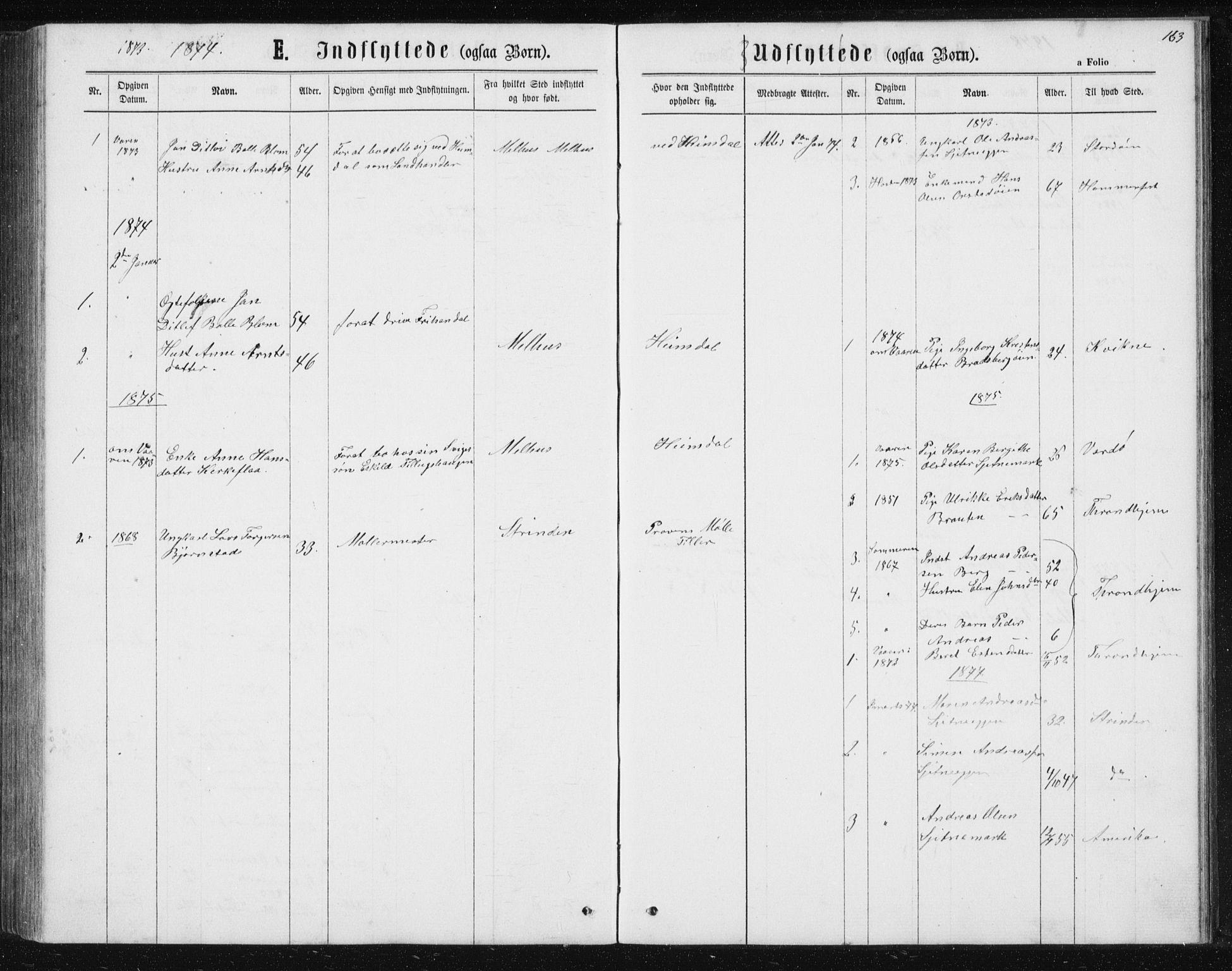 SAT, Ministerialprotokoller, klokkerbøker og fødselsregistre - Sør-Trøndelag, 621/L0459: Klokkerbok nr. 621C02, 1866-1895, s. 163