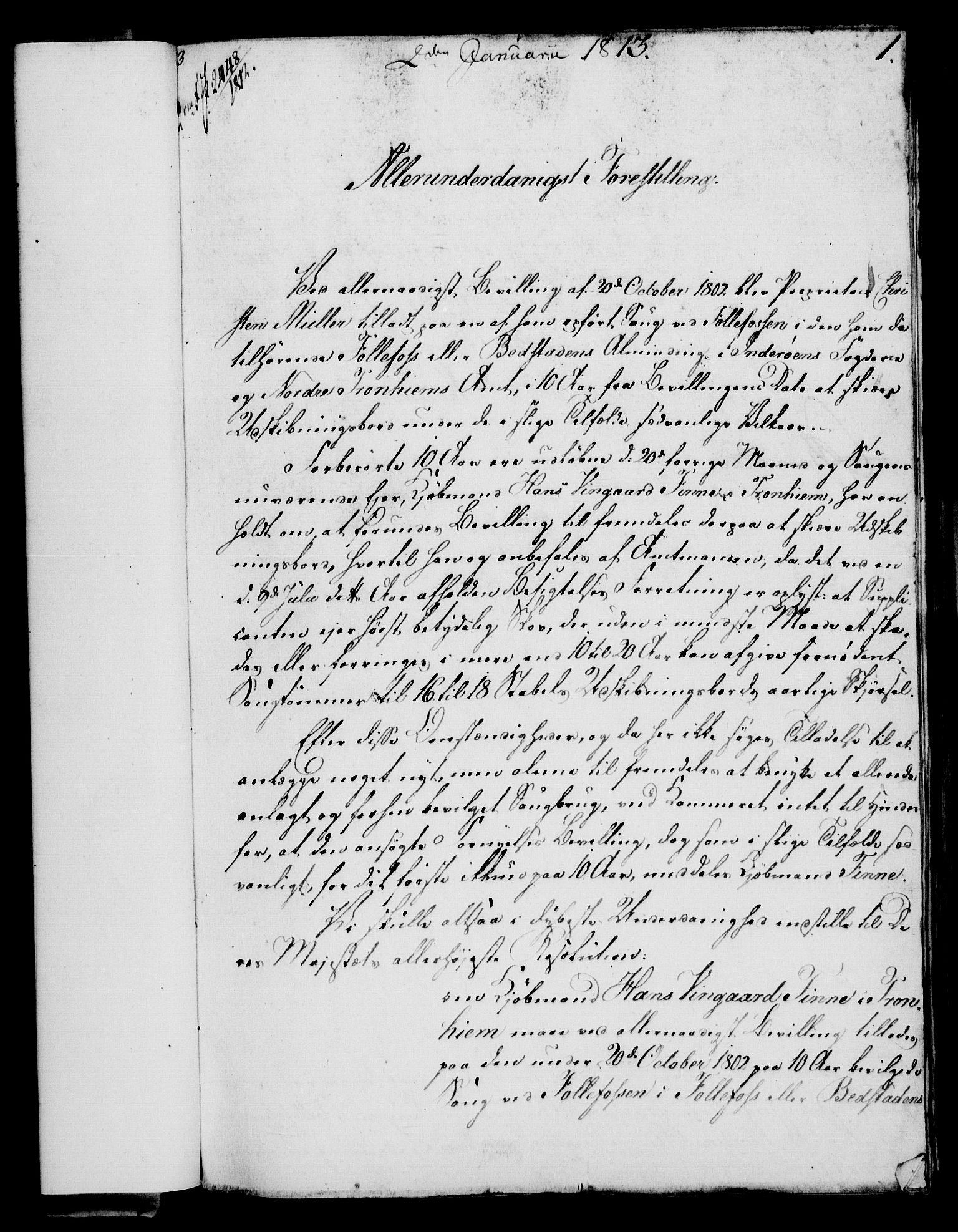 RA, Rentekammeret, Kammerkanselliet, G/Gf/Gfa/L0095: Norsk relasjons- og resolusjonsprotokoll (merket RK 52.95), 1813-1814, s. 29