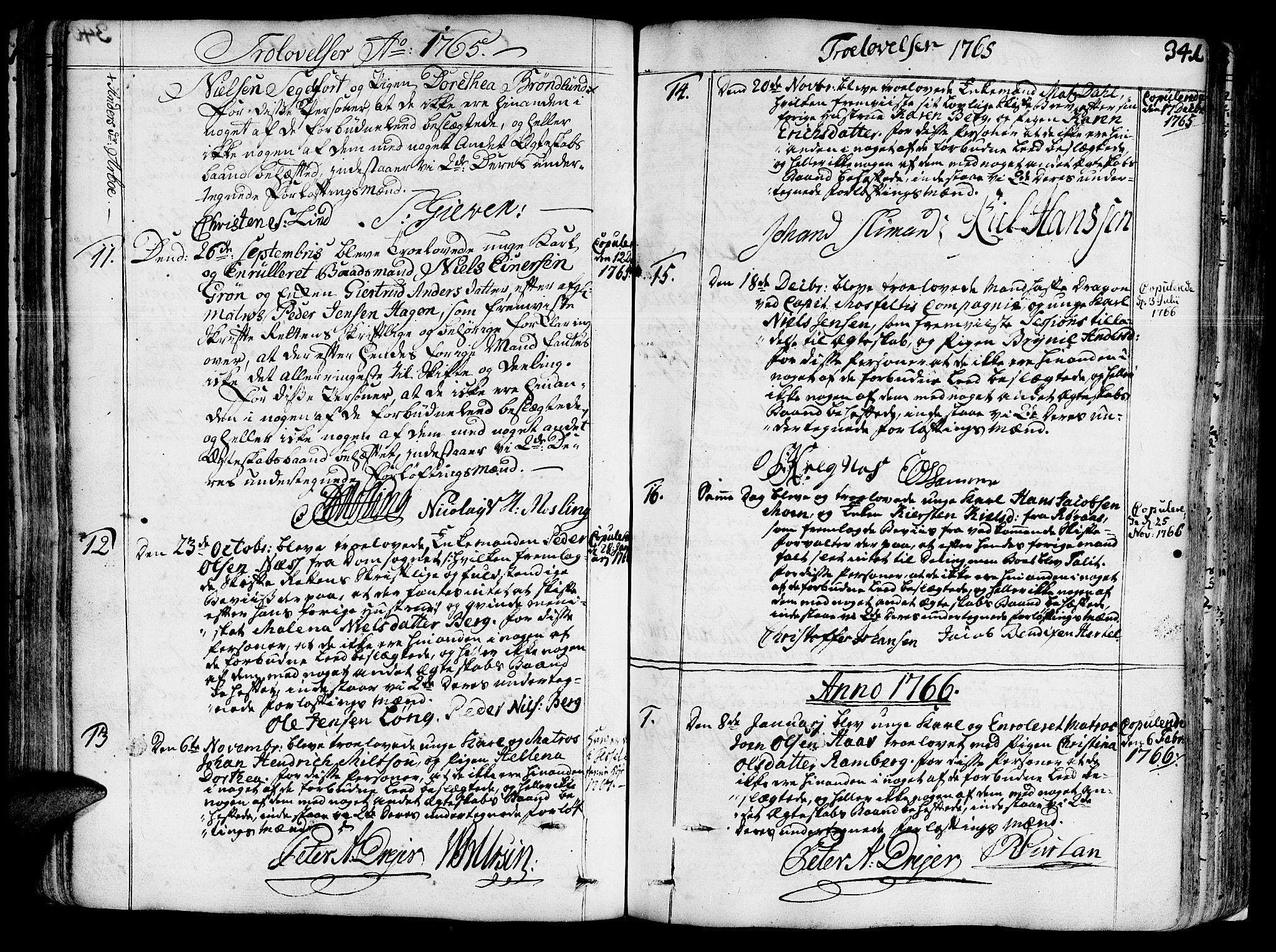 SAT, Ministerialprotokoller, klokkerbøker og fødselsregistre - Sør-Trøndelag, 602/L0103: Ministerialbok nr. 602A01, 1732-1774, s. 341