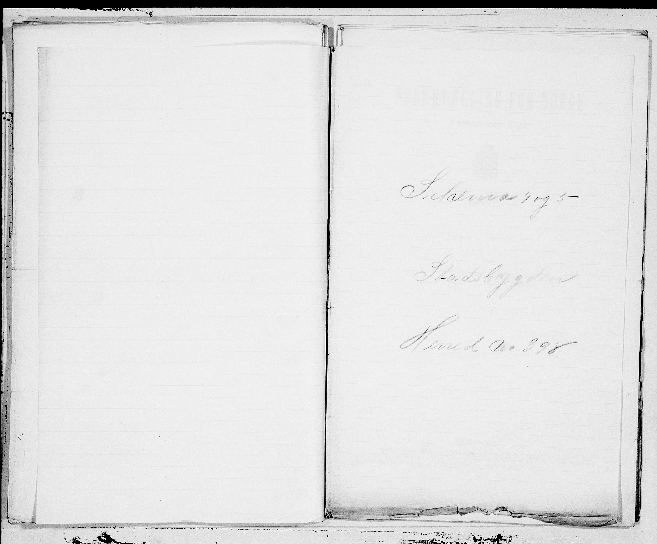 SAT, Folketelling 1900 for 1625 Stadsbygd herred, 1900, s. 1