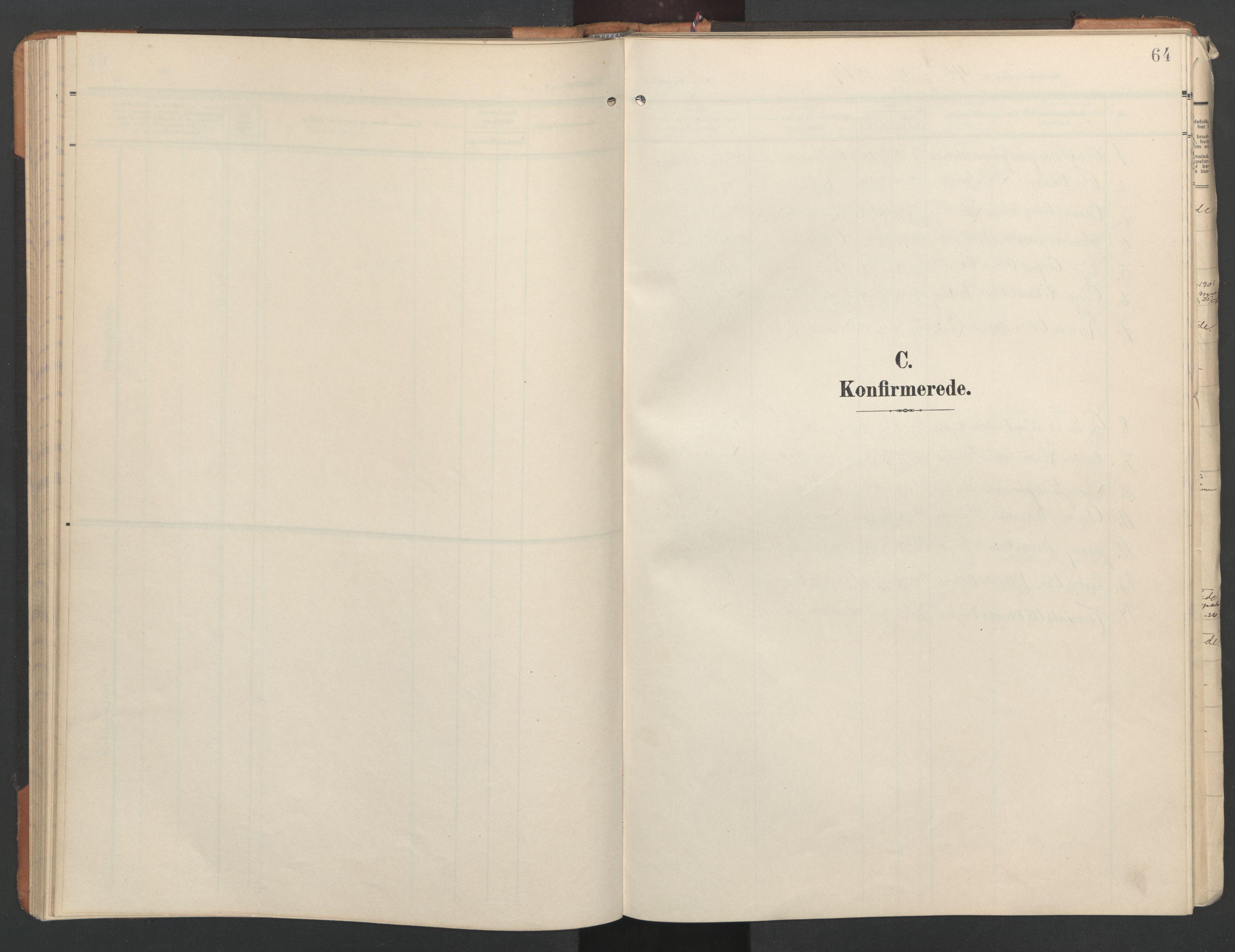 SAT, Ministerialprotokoller, klokkerbøker og fødselsregistre - Nord-Trøndelag, 746/L0455: Klokkerbok nr. 746C01, 1908-1933, s. 64