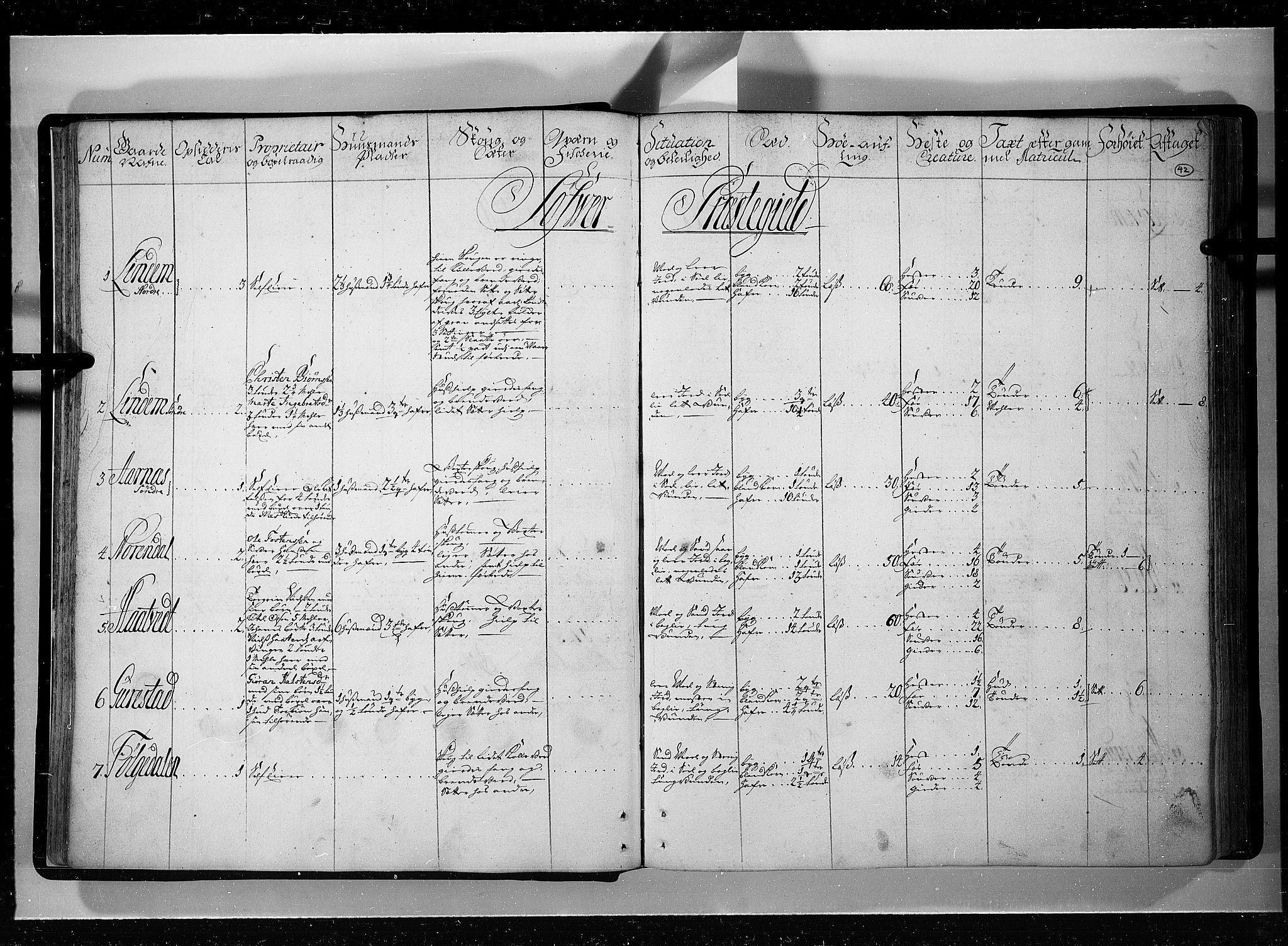 RA, Rentekammeret inntil 1814, Realistisk ordnet avdeling, N/Nb/Nbf/L0121: Øvre og Nedre Telemark eksaminasjonsprotokoll, 1723, s. 41b-42a