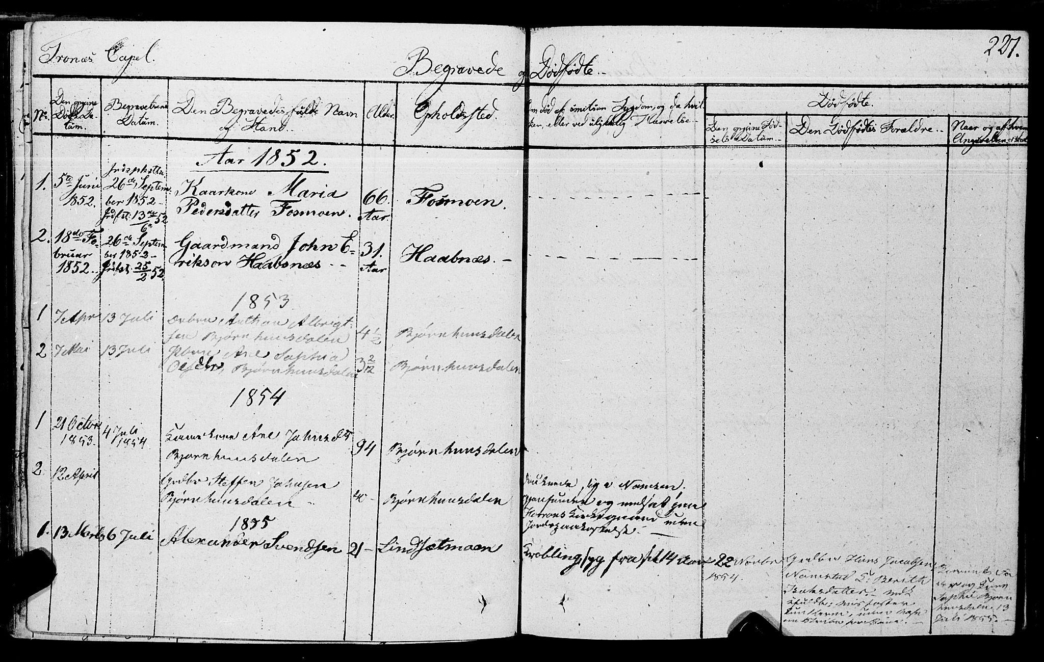 SAT, Ministerialprotokoller, klokkerbøker og fødselsregistre - Nord-Trøndelag, 762/L0538: Ministerialbok nr. 762A02 /2, 1833-1879, s. 227