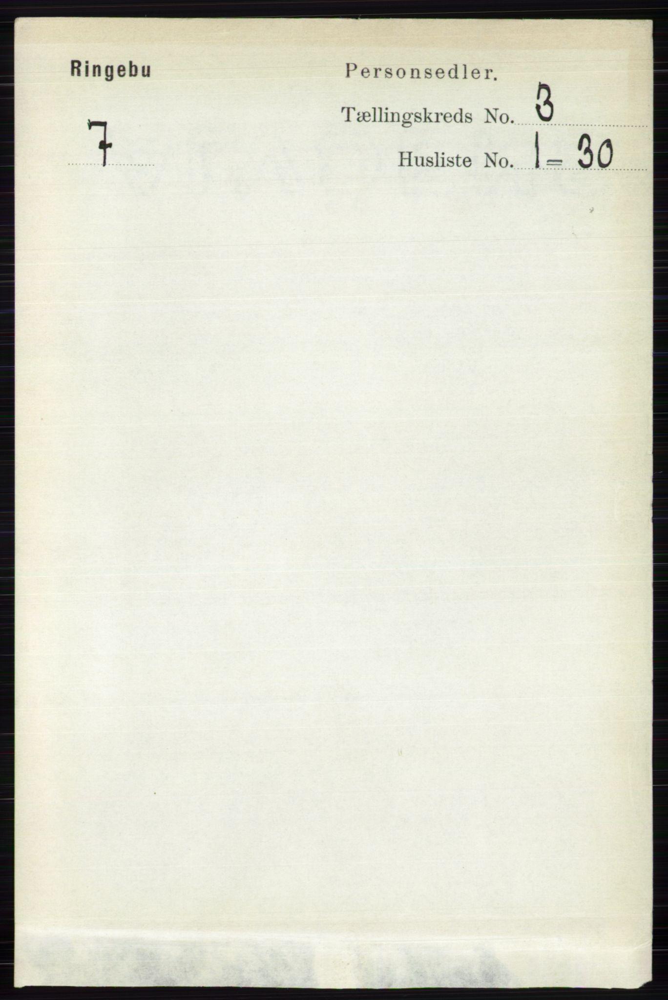 RA, Folketelling 1891 for 0520 Ringebu herred, 1891, s. 720