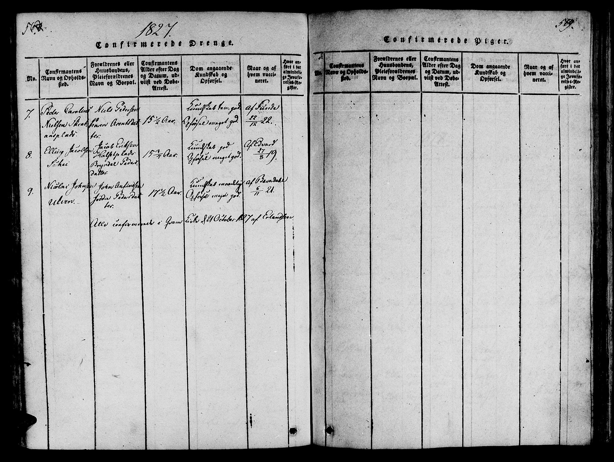 SAT, Ministerialprotokoller, klokkerbøker og fødselsregistre - Nord-Trøndelag, 746/L0441: Ministerialbok nr. 746A03 /4, 1816-1827, s. 568-569
