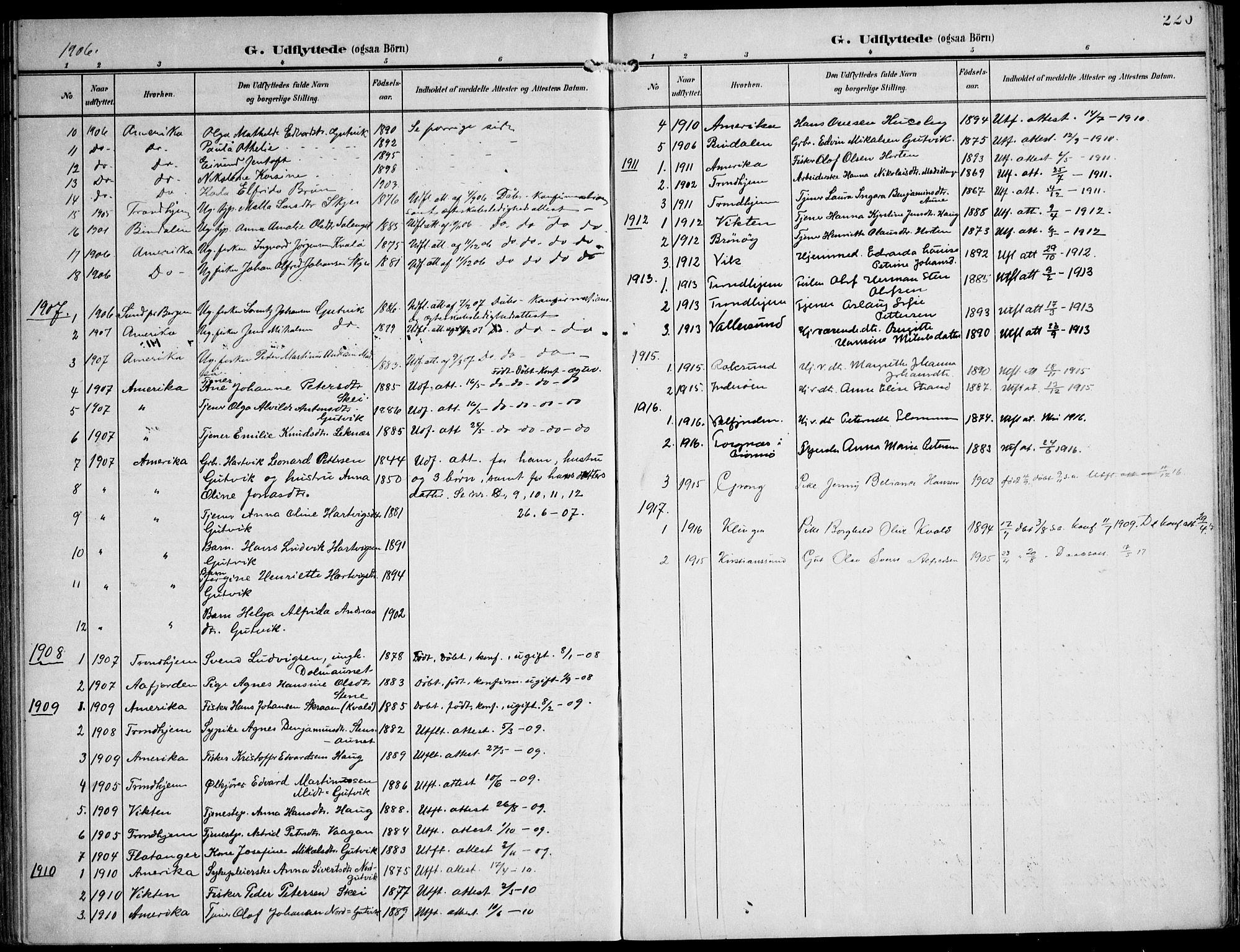 SAT, Ministerialprotokoller, klokkerbøker og fødselsregistre - Nord-Trøndelag, 788/L0698: Ministerialbok nr. 788A05, 1902-1921, s. 220
