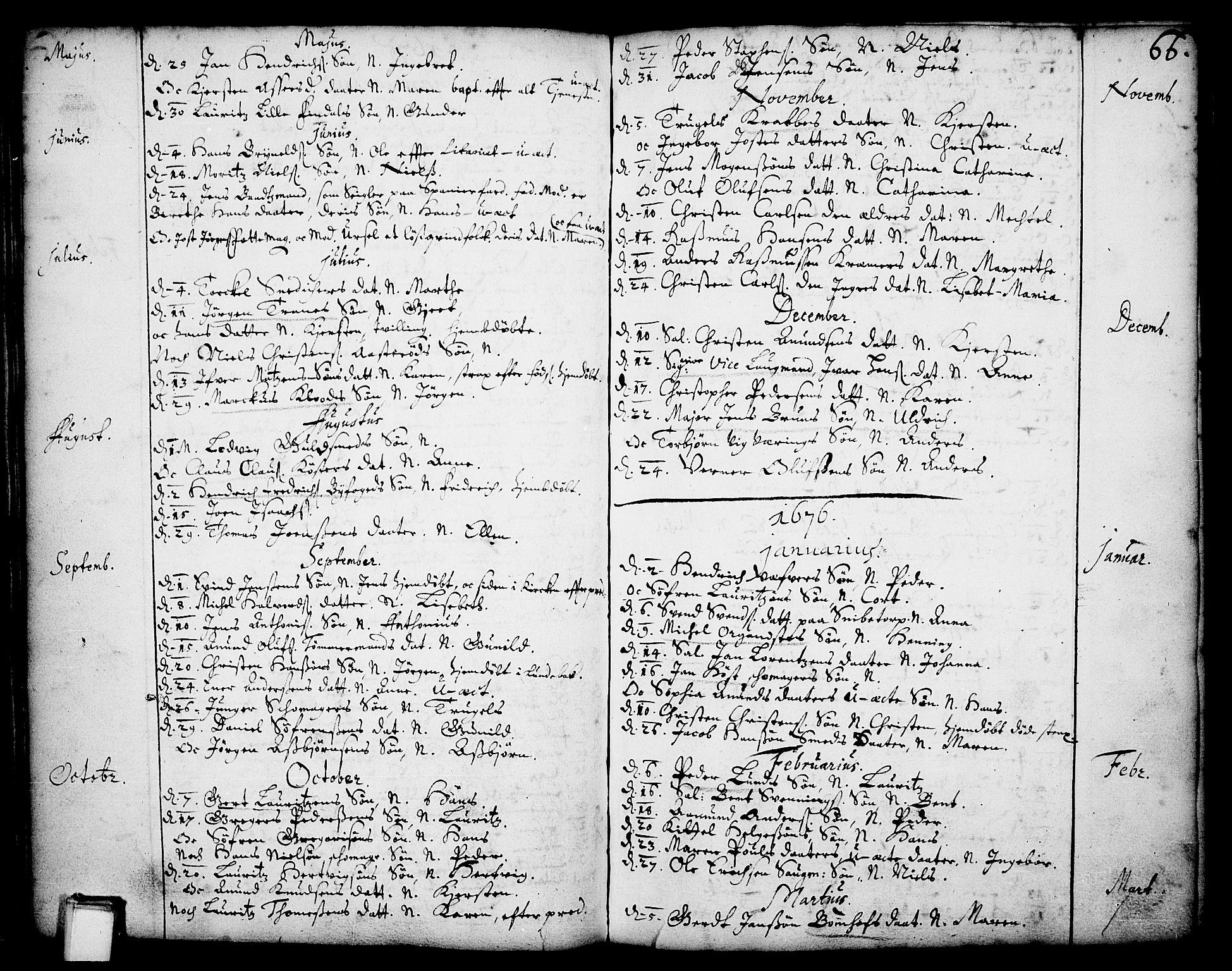 SAKO, Skien kirkebøker, F/Fa/L0001: Ministerialbok nr. 1, 1659-1679, s. 66