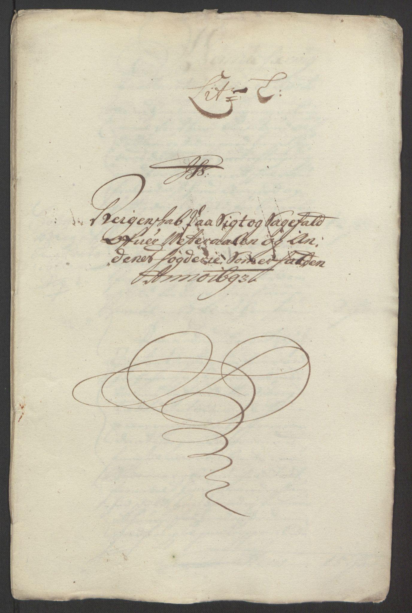 RA, Rentekammeret inntil 1814, Reviderte regnskaper, Fogderegnskap, R67/L4676: Fogderegnskap Vesterålen, Andenes og Lofoten, 1691-1693, s. 337