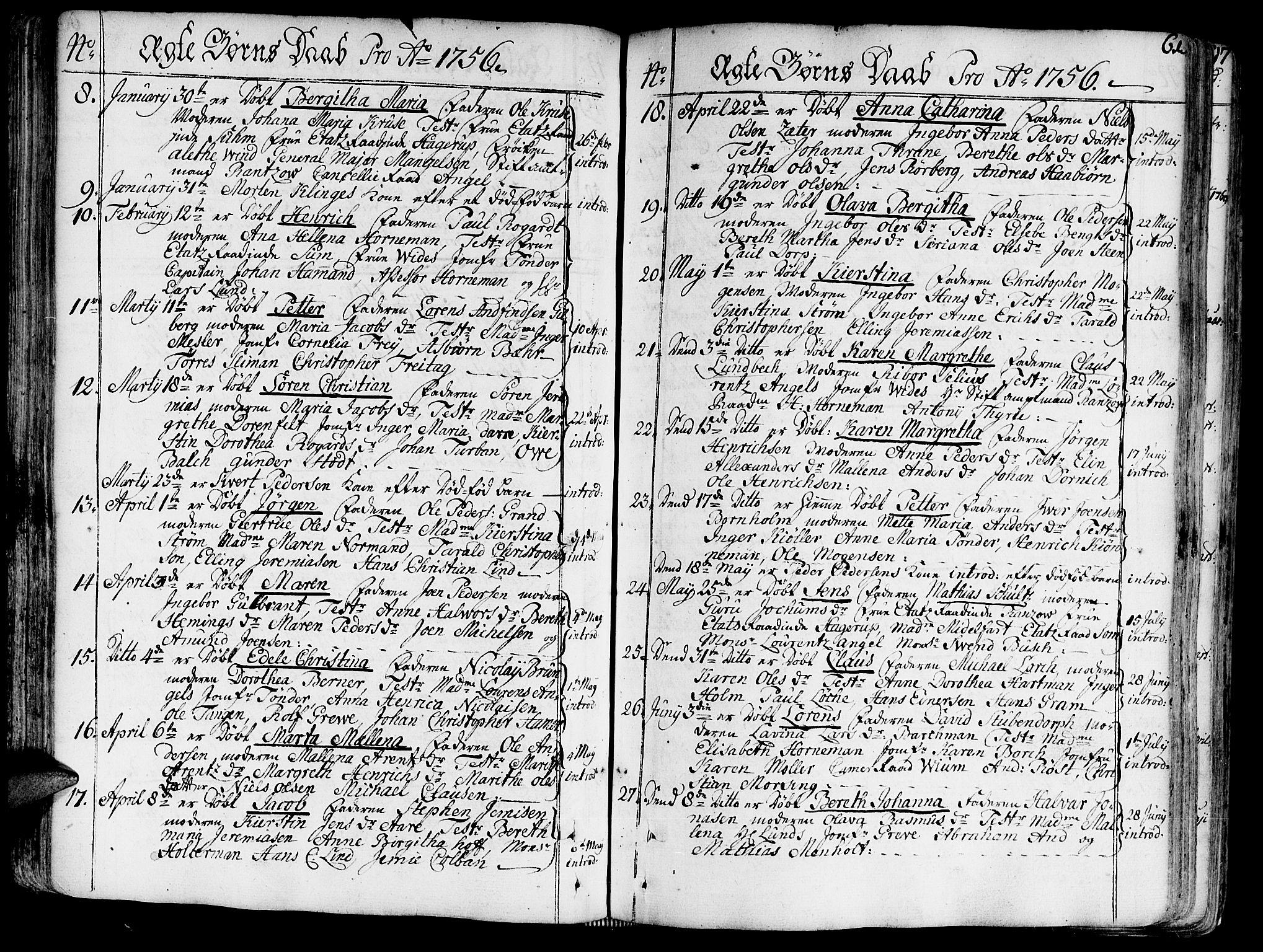 SAT, Ministerialprotokoller, klokkerbøker og fødselsregistre - Sør-Trøndelag, 602/L0103: Ministerialbok nr. 602A01, 1732-1774, s. 61