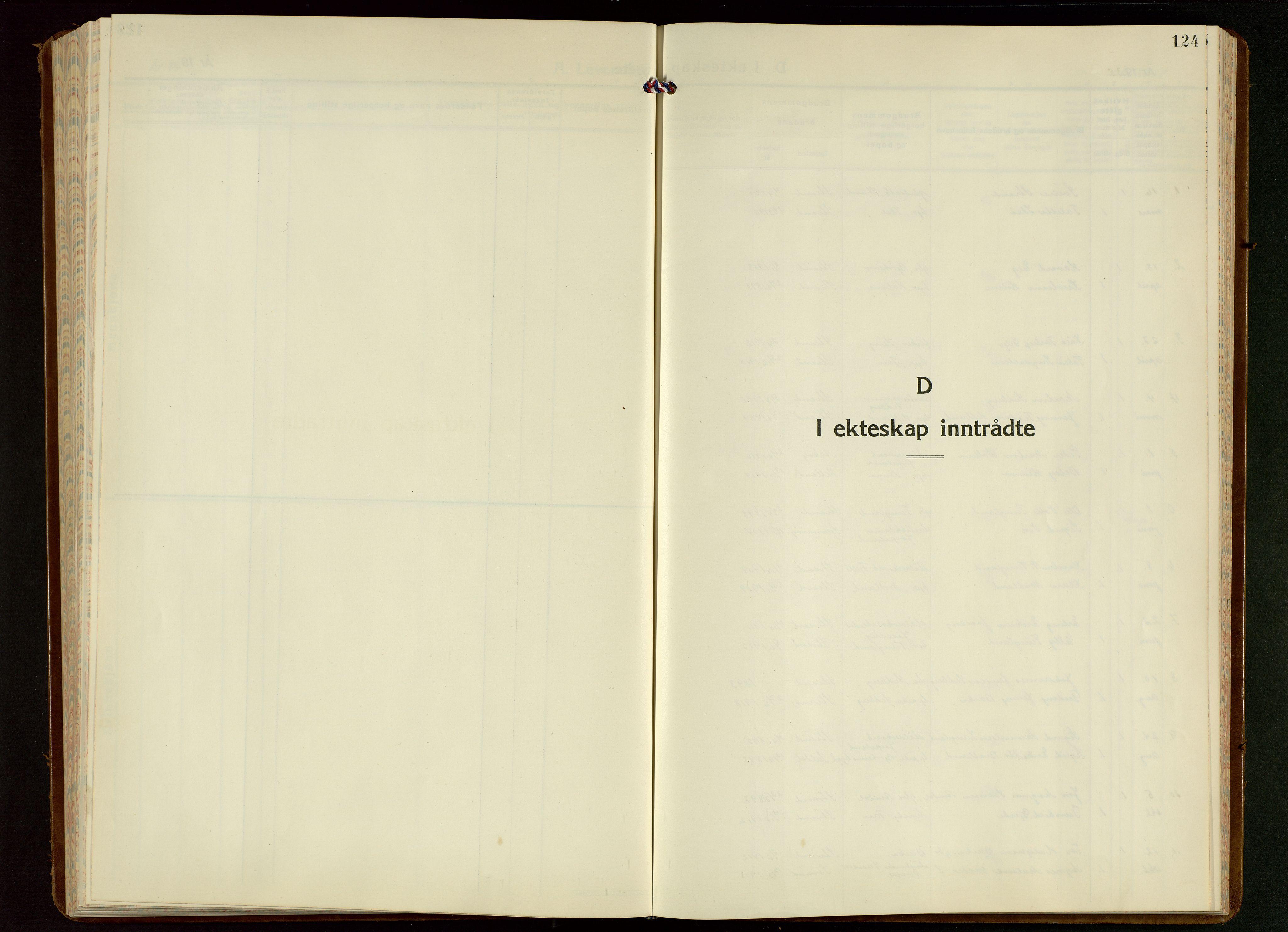 SAST, Strand sokneprestkontor, H/Ha/Hab/L0006: Klokkerbok nr. B 6, 1933-1950, s. 124