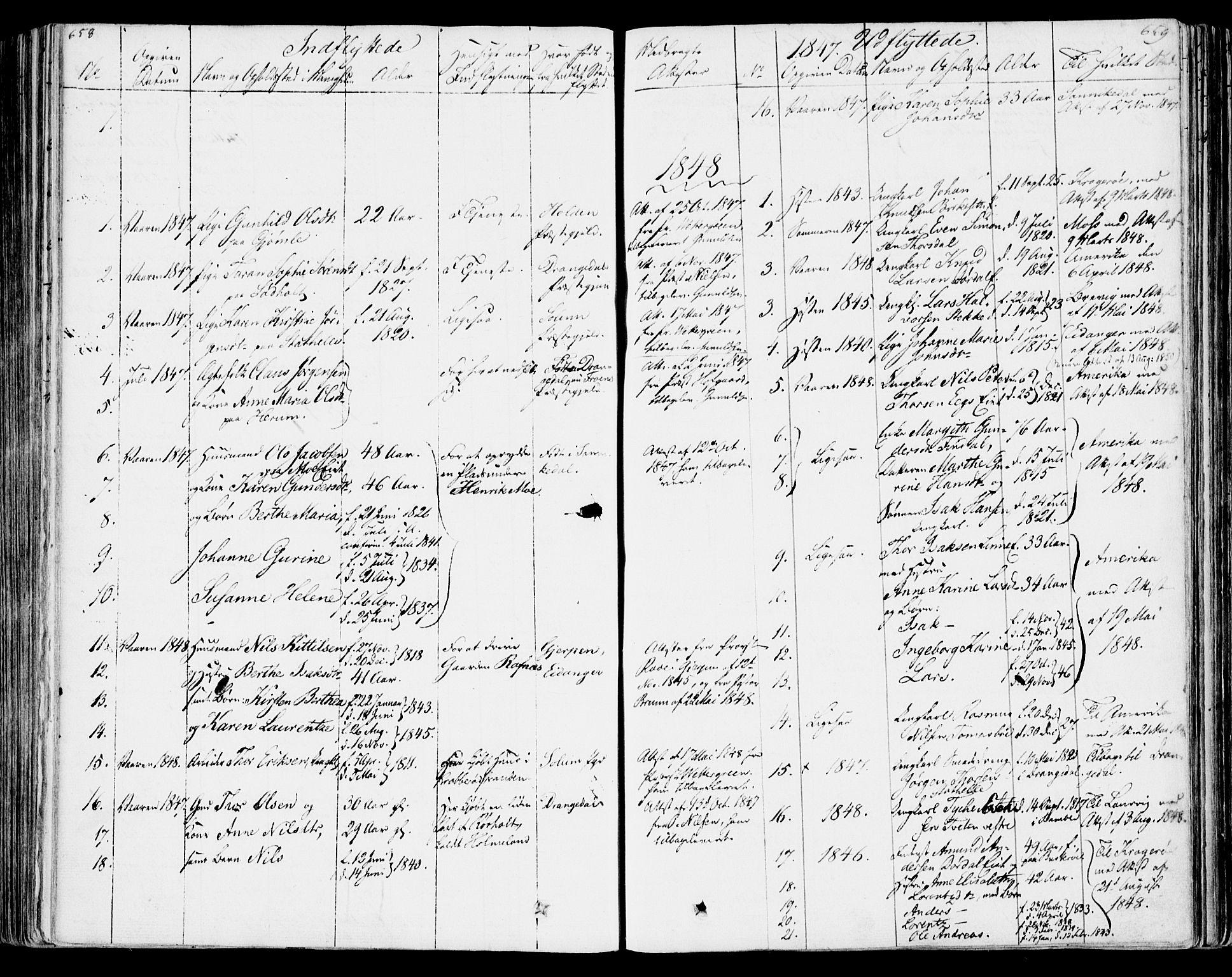SAKO, Bamble kirkebøker, F/Fa/L0004: Ministerialbok nr. I 4, 1834-1853, s. 658-659
