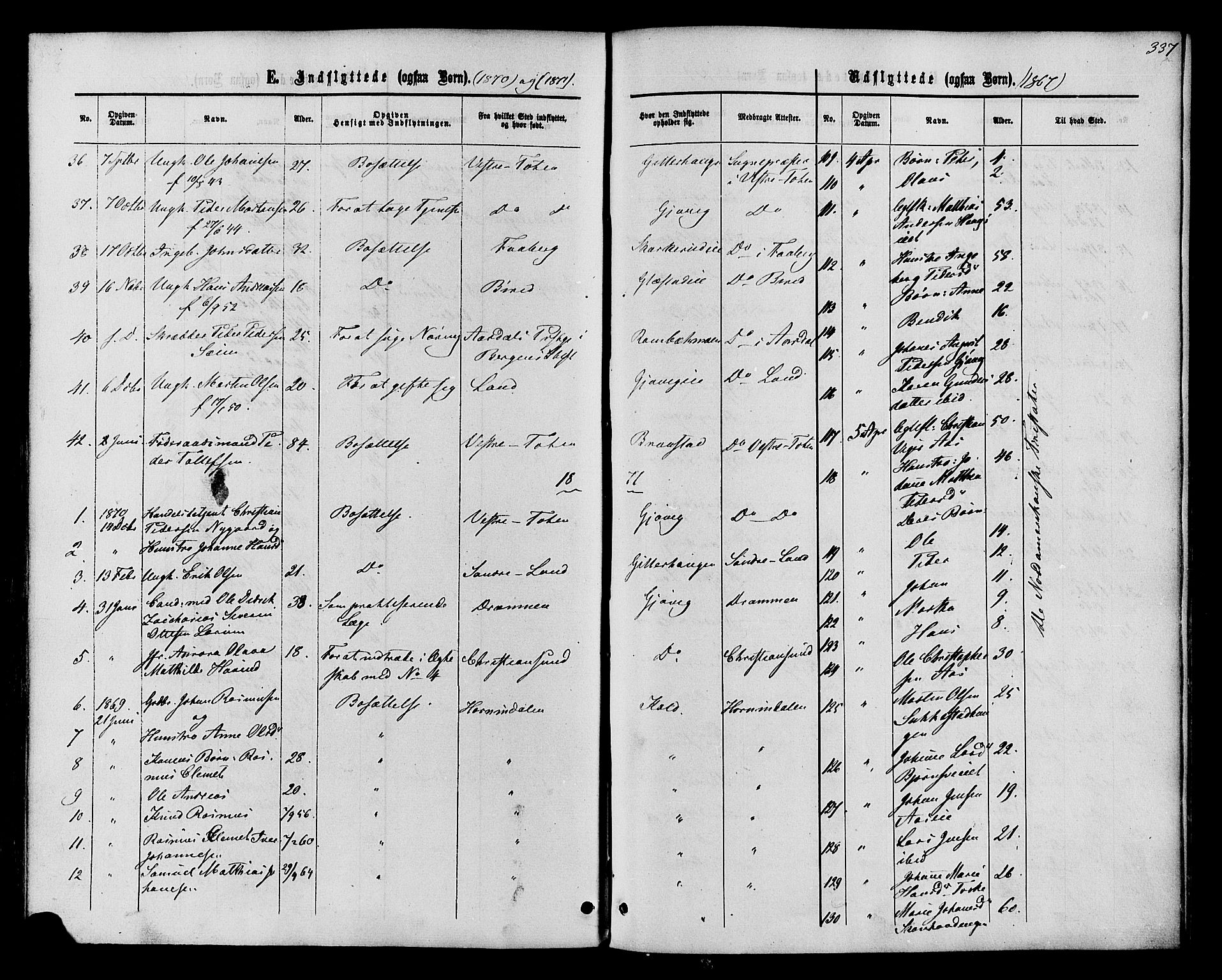 SAH, Vardal prestekontor, H/Ha/Haa/L0007: Ministerialbok nr. 7, 1867-1878, s. 337