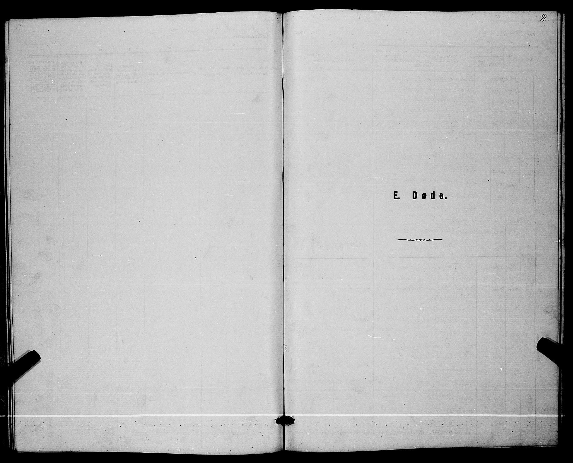 SAKO, Lunde kirkebøker, G/Ga/L0001b: Klokkerbok nr. I 1, 1879-1887, s. 91