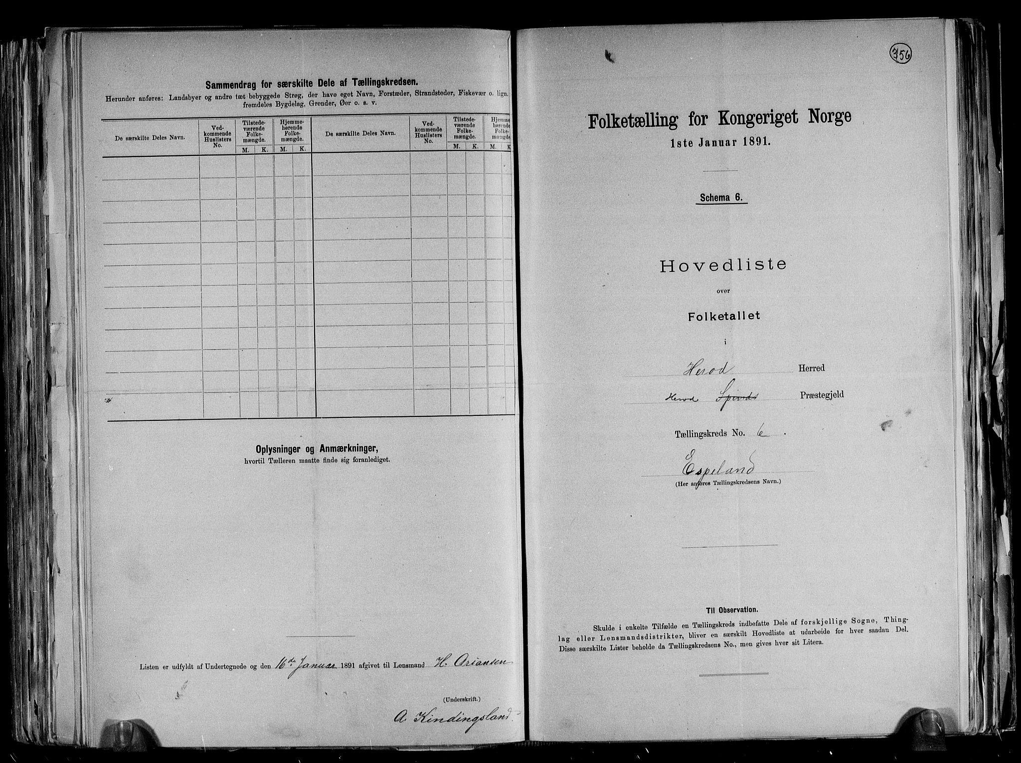 RA, Folketelling 1891 for 1039 Herad herred, 1891, s. 16