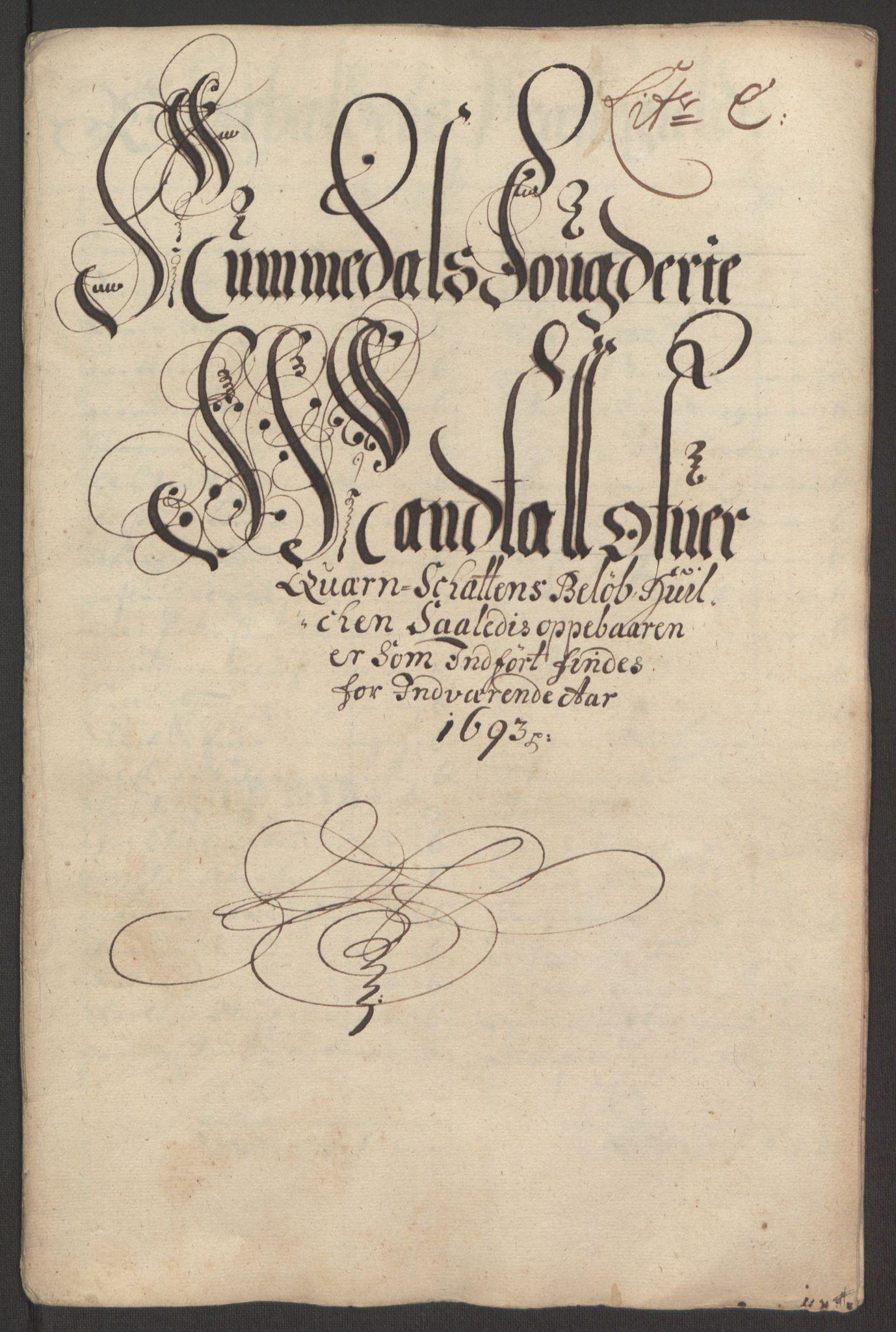 RA, Rentekammeret inntil 1814, Reviderte regnskaper, Fogderegnskap, R64/L4424: Fogderegnskap Namdal, 1692-1695, s. 242