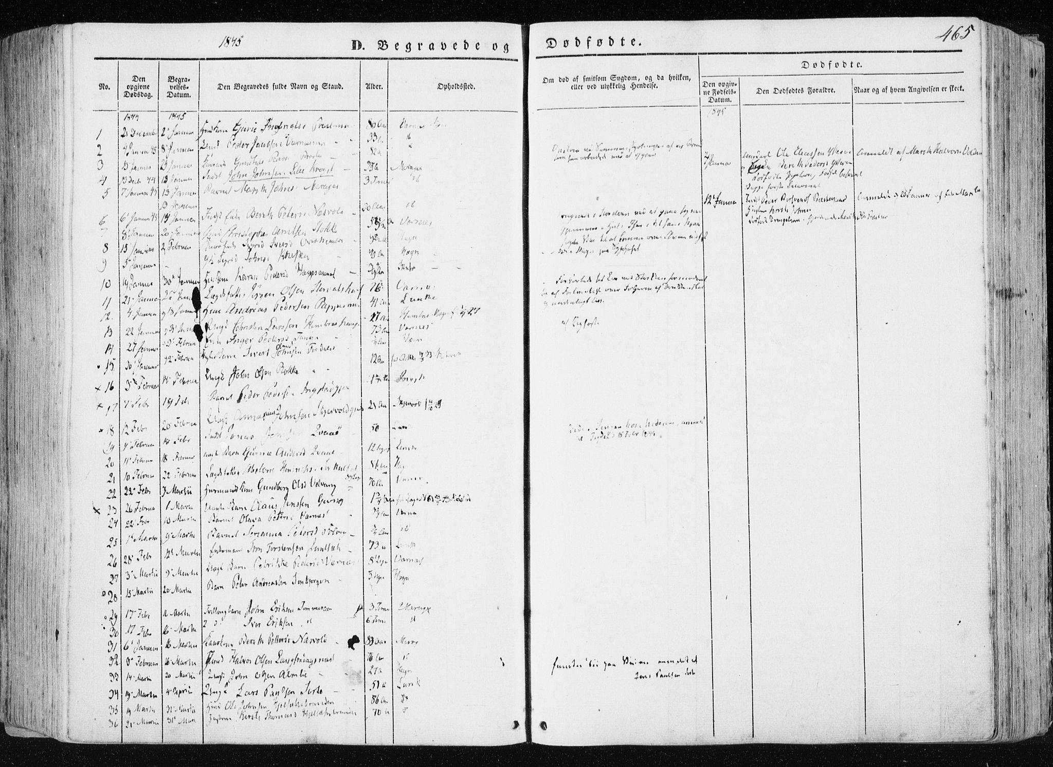 SAT, Ministerialprotokoller, klokkerbøker og fødselsregistre - Nord-Trøndelag, 709/L0074: Ministerialbok nr. 709A14, 1845-1858, s. 465