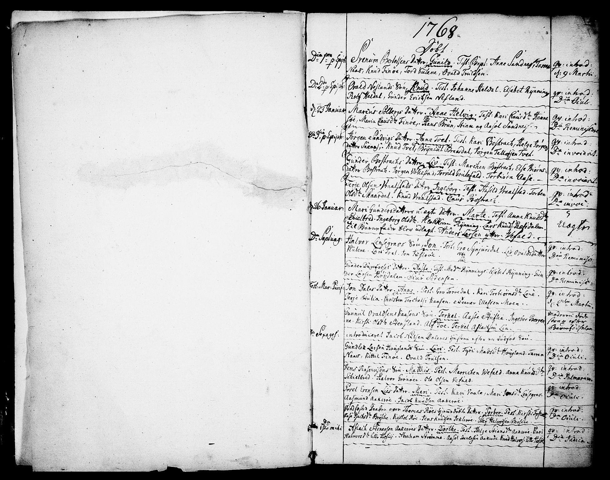 SAKO, Drangedal kirkebøker, F/Fa/L0003: Ministerialbok nr. 3, 1768-1814, s. 0-1