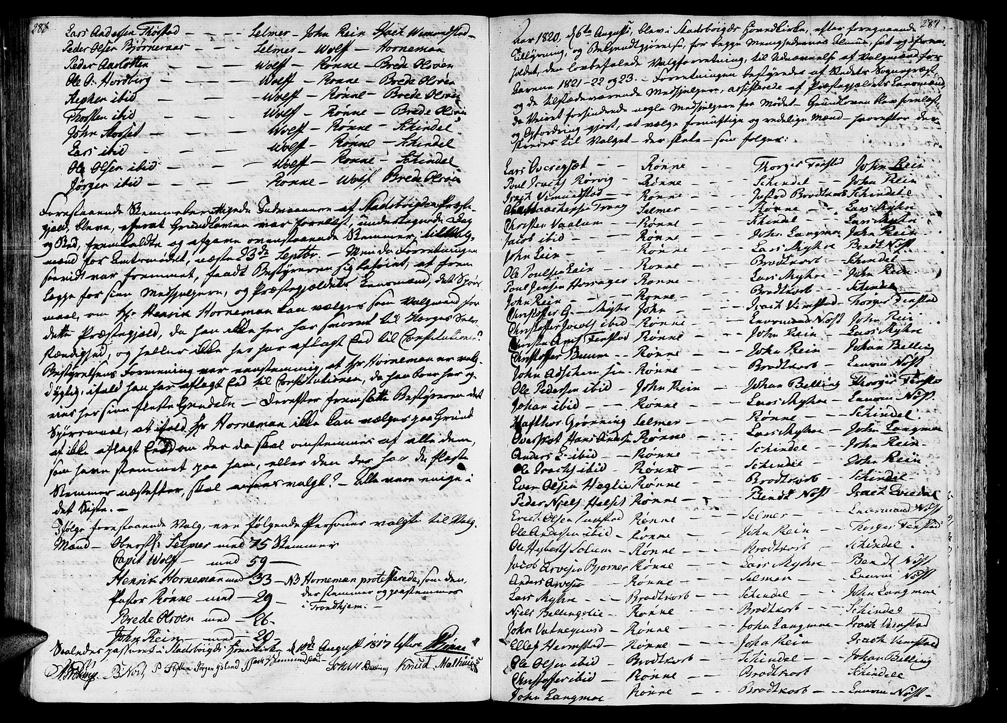 SAT, Ministerialprotokoller, klokkerbøker og fødselsregistre - Sør-Trøndelag, 646/L0607: Ministerialbok nr. 646A05, 1806-1815, s. 286-287