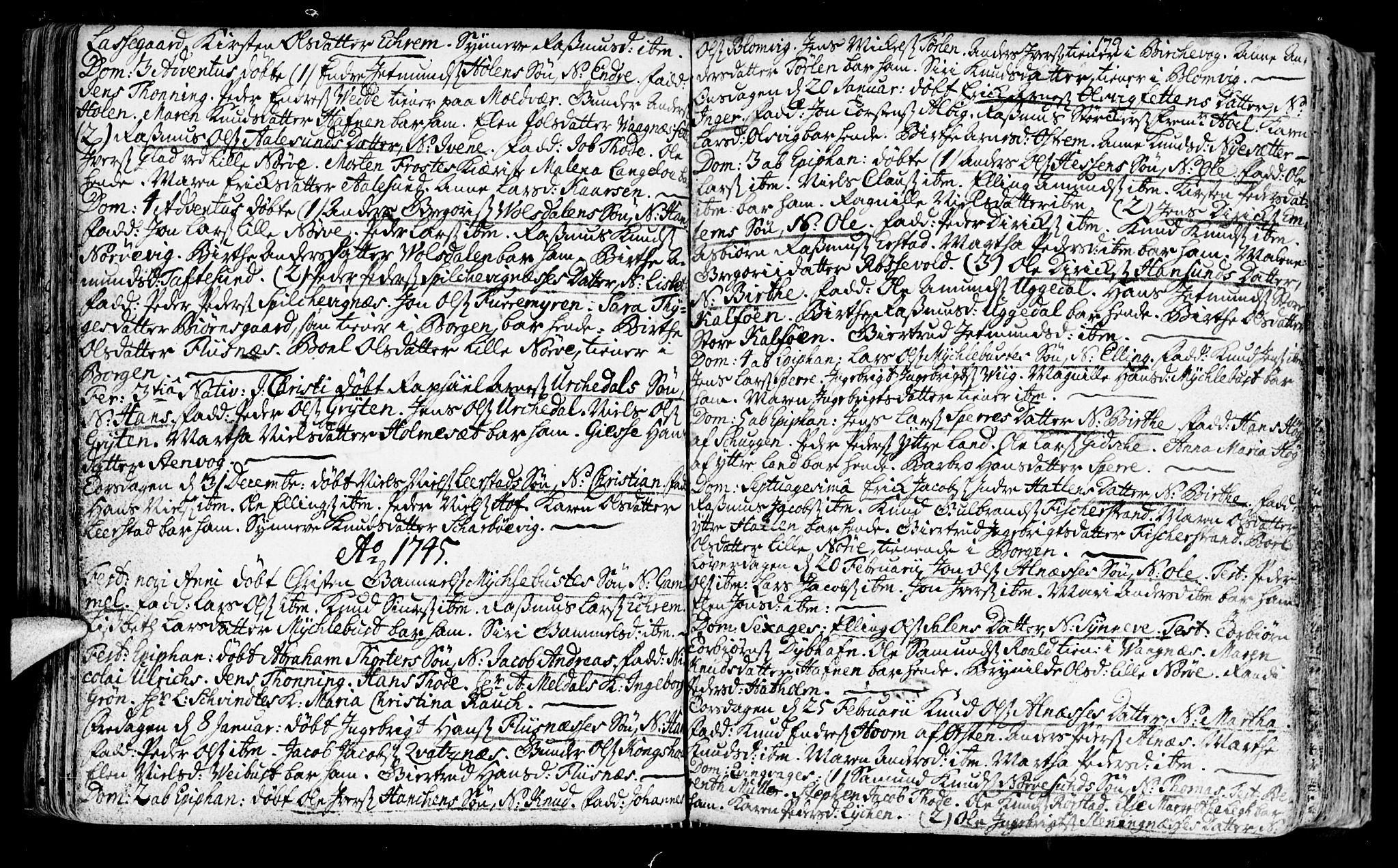 SAT, Ministerialprotokoller, klokkerbøker og fødselsregistre - Møre og Romsdal, 528/L0391: Ministerialbok nr. 528A02, 1739-1761