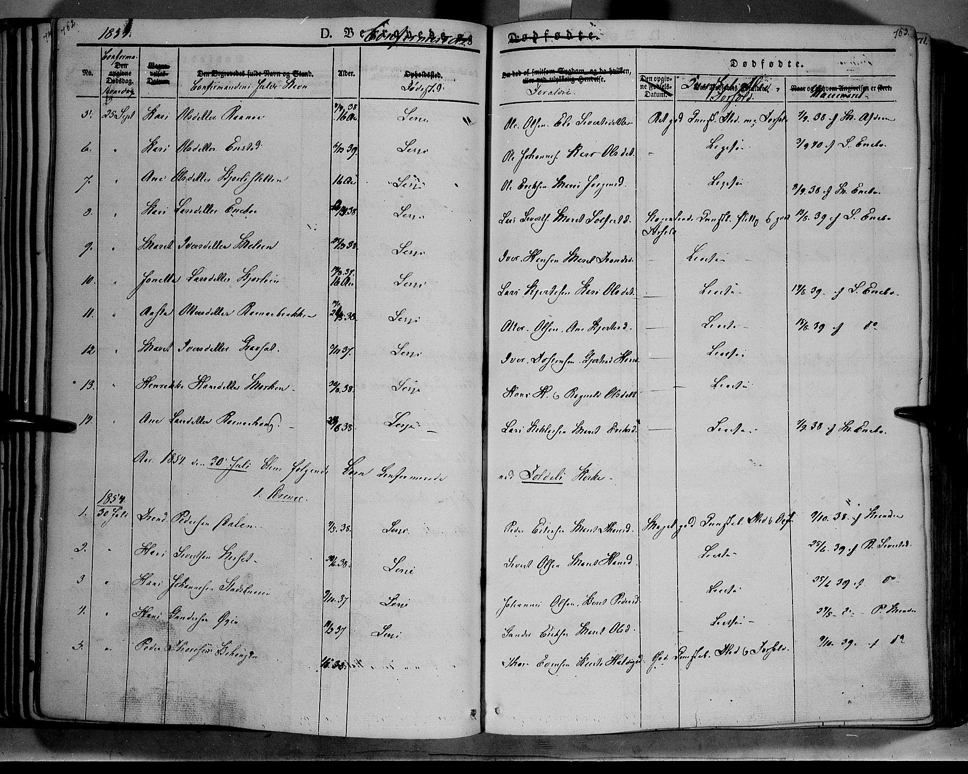 SAH, Lesja prestekontor, Ministerialbok nr. 6B, 1843-1854, s. 762-763