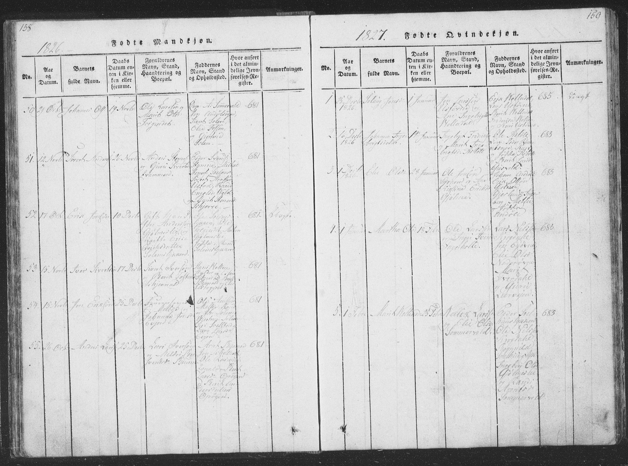 SAT, Ministerialprotokoller, klokkerbøker og fødselsregistre - Sør-Trøndelag, 668/L0816: Klokkerbok nr. 668C05, 1816-1893, s. 158-159