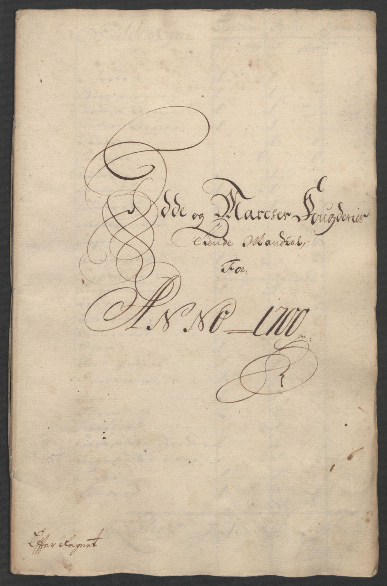 RA, Rentekammeret inntil 1814, Reviderte regnskaper, Fogderegnskap, R01/L0015: Fogderegnskap Idd og Marker, 1700-1701, s. 56