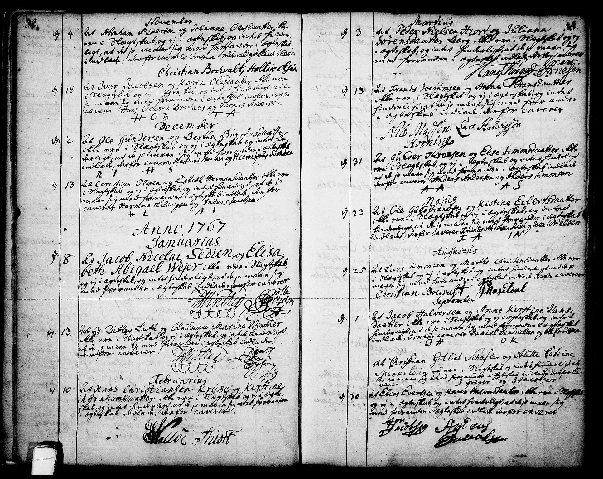 SAKO, Skien kirkebøker, F/Fa/L0003: Ministerialbok nr. 3, 1755-1791, s. 32-33