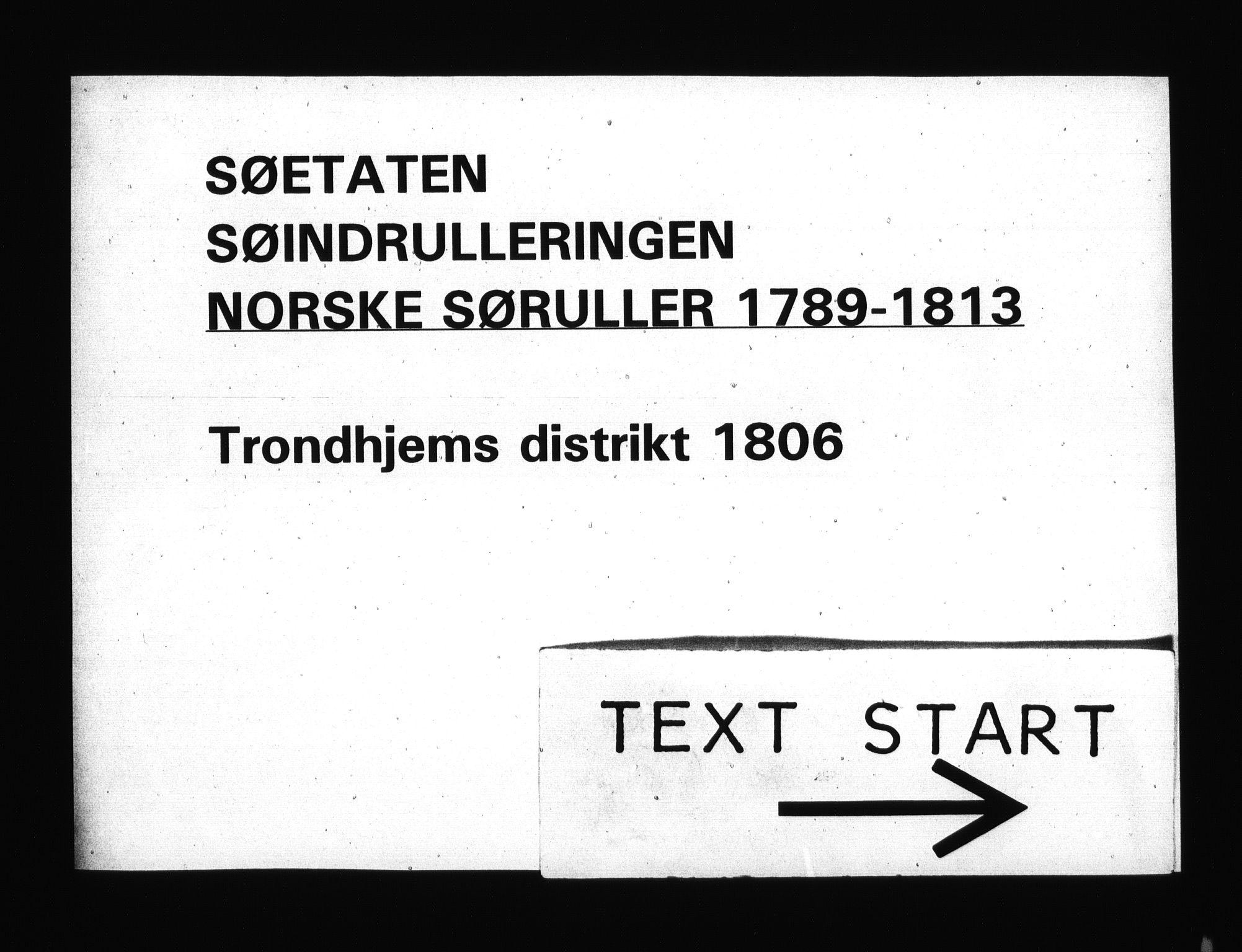 RA, Sjøetaten, F/L0333: Trondheim distrikt, bind 1, 1806