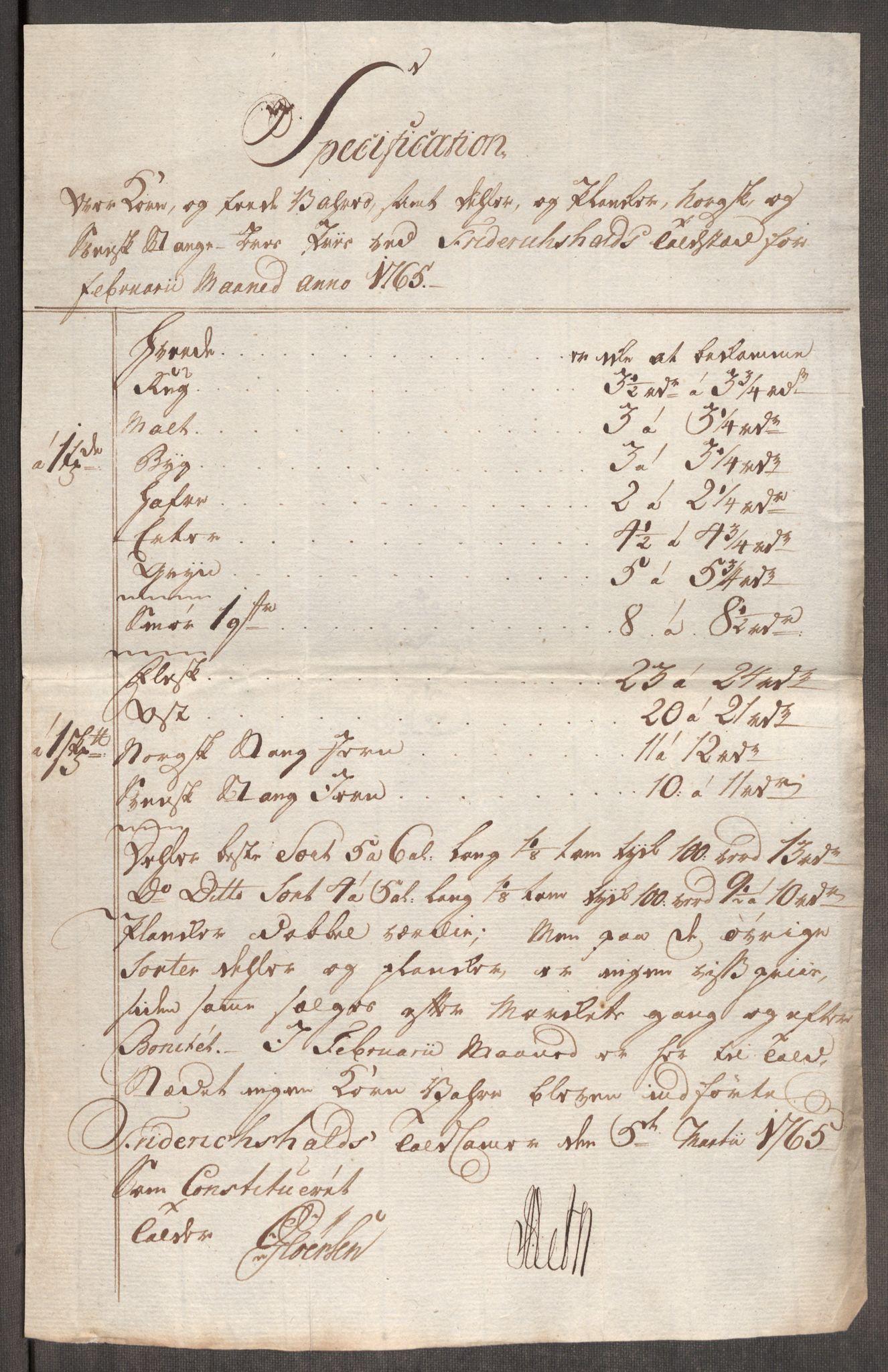 RA, Rentekammeret inntil 1814, Realistisk ordnet avdeling, Oe/L0008: [Ø1]: Priskuranter, 1764-1768, s. 246