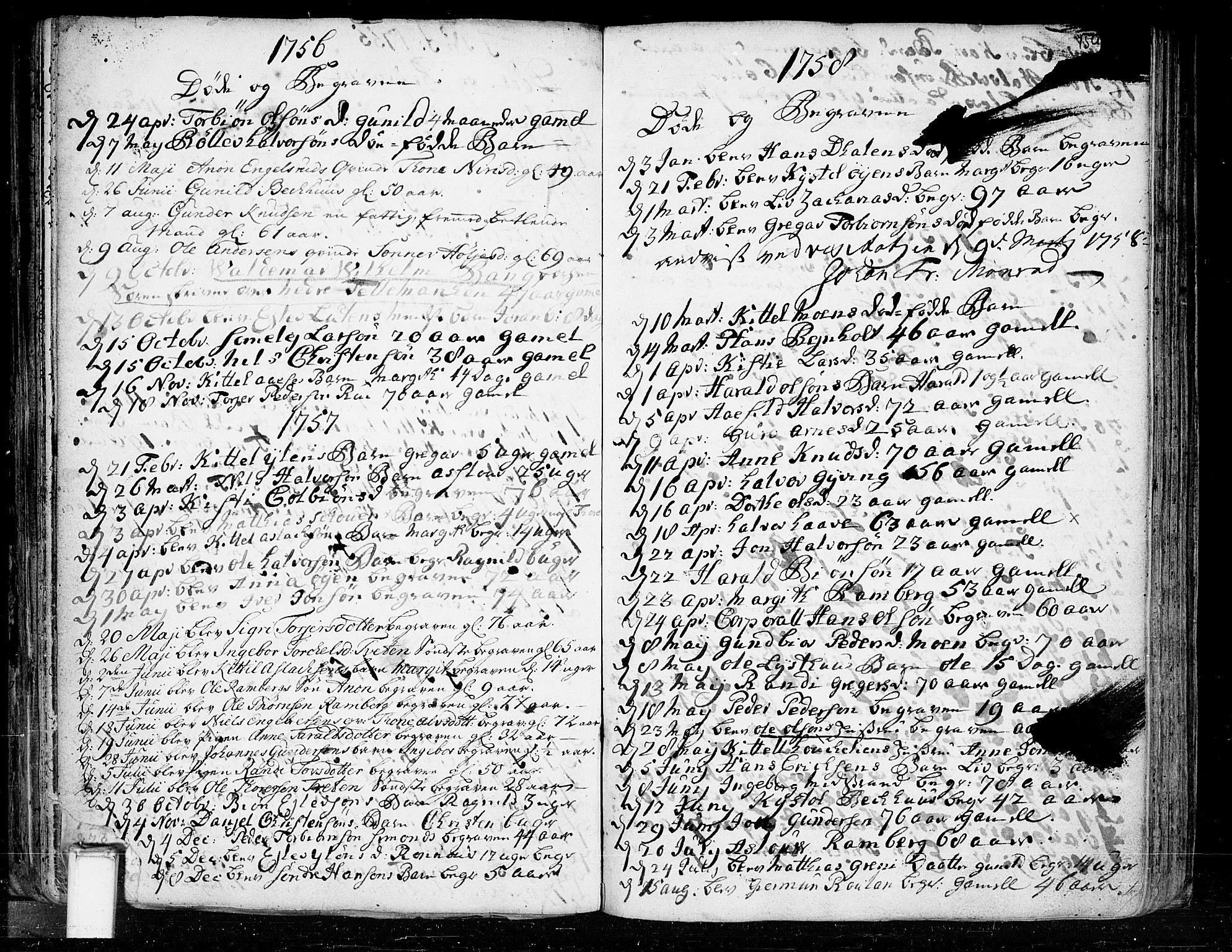 SAKO, Heddal kirkebøker, F/Fa/L0003: Ministerialbok nr. I 3, 1723-1783, s. 150