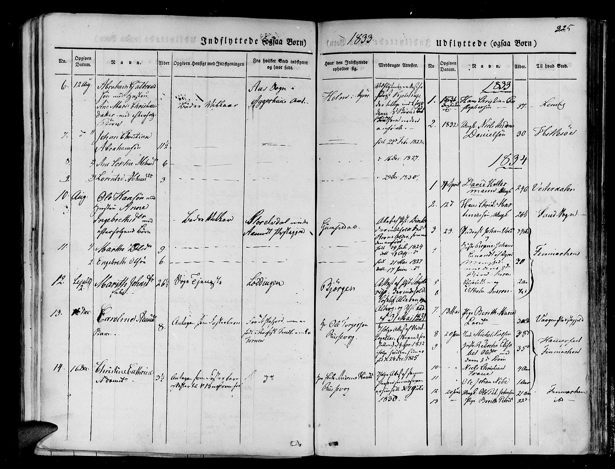 SATØ, Tranøy sokneprestkontor, I/Ia/Iaa/L0005kirke: Ministerialbok nr. 5, 1829-1844, s. 325