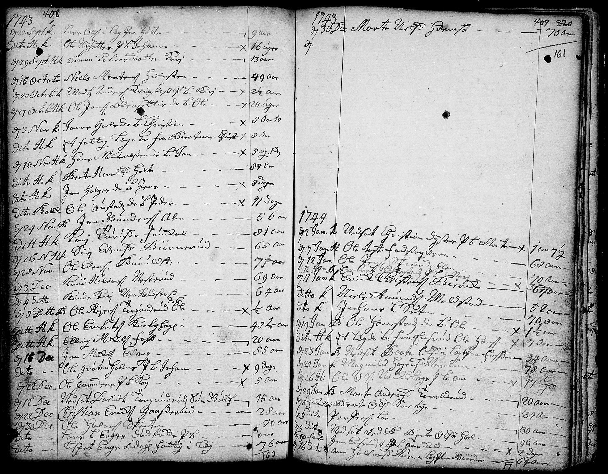 SAH, Toten prestekontor, Ministerialbok nr. 3, 1734-1751, s. 408-409