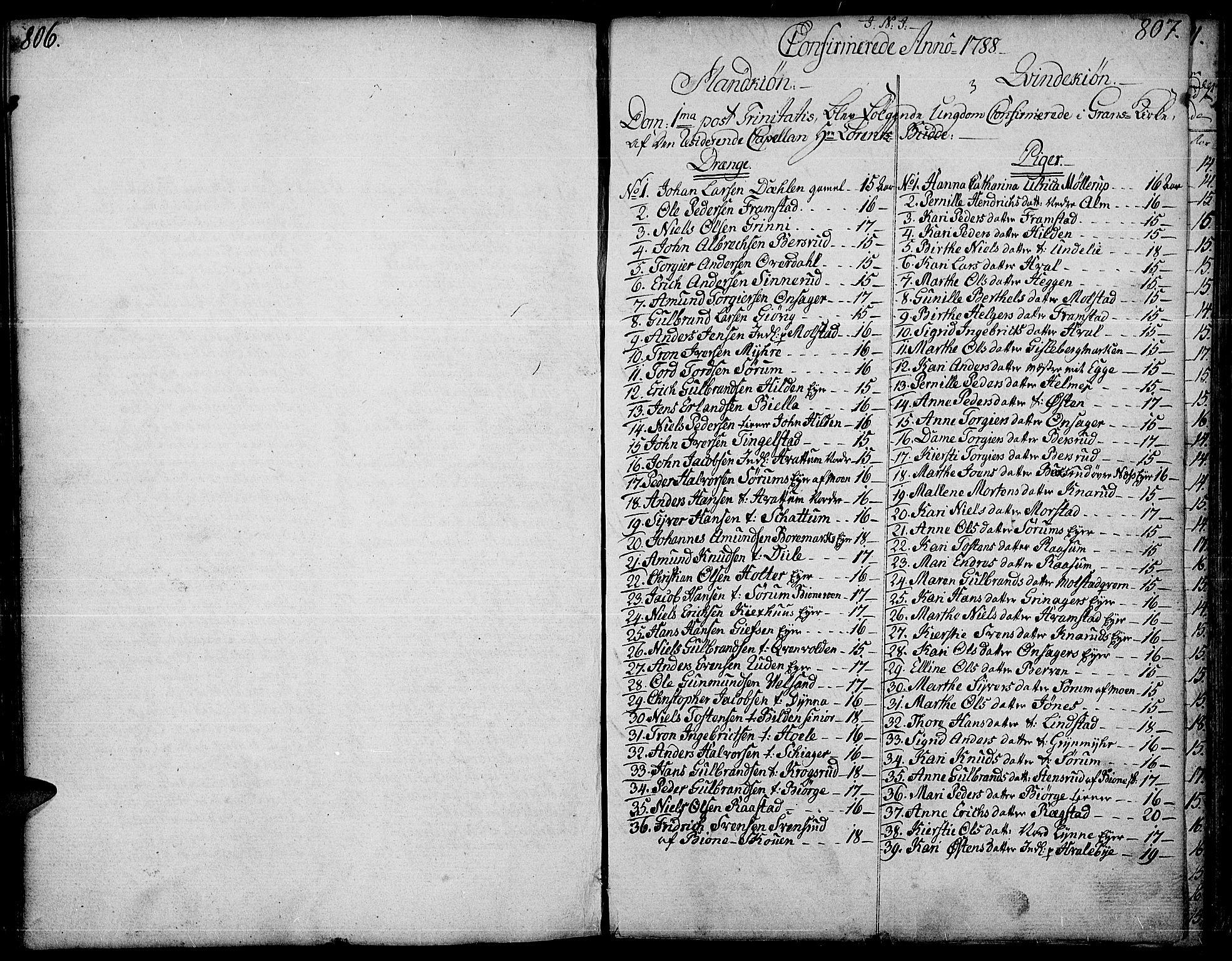 SAH, Gran prestekontor, Ministerialbok nr. 6, 1787-1824, s. 806-807