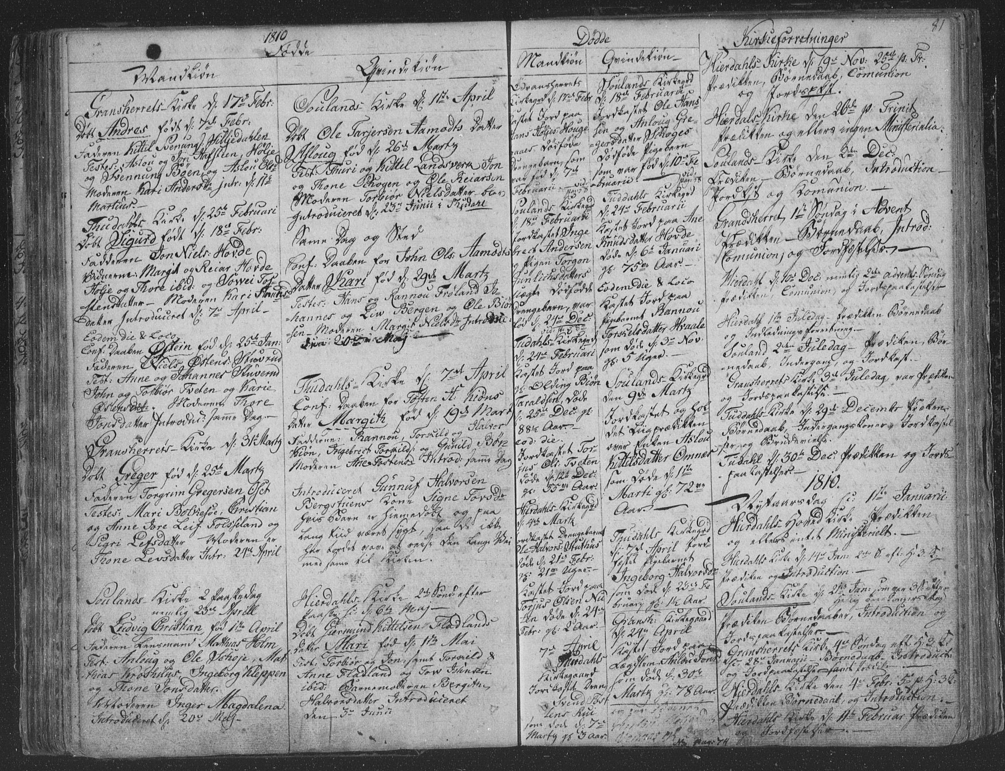 SAKO, Hjartdal kirkebøker, F/Fa/L0006: Ministerialbok nr. I 6, 1801-1814, s. 81