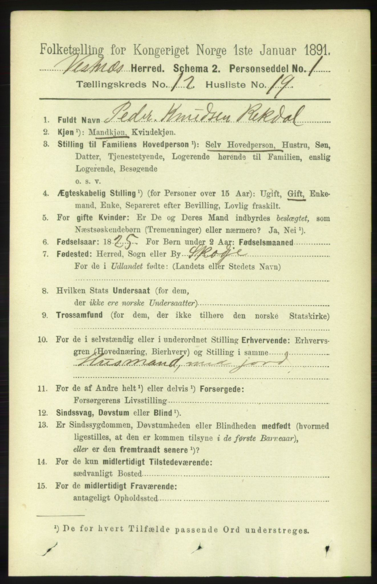 RA, Folketelling 1891 for 1535 Vestnes herred, 1891, s. 4503