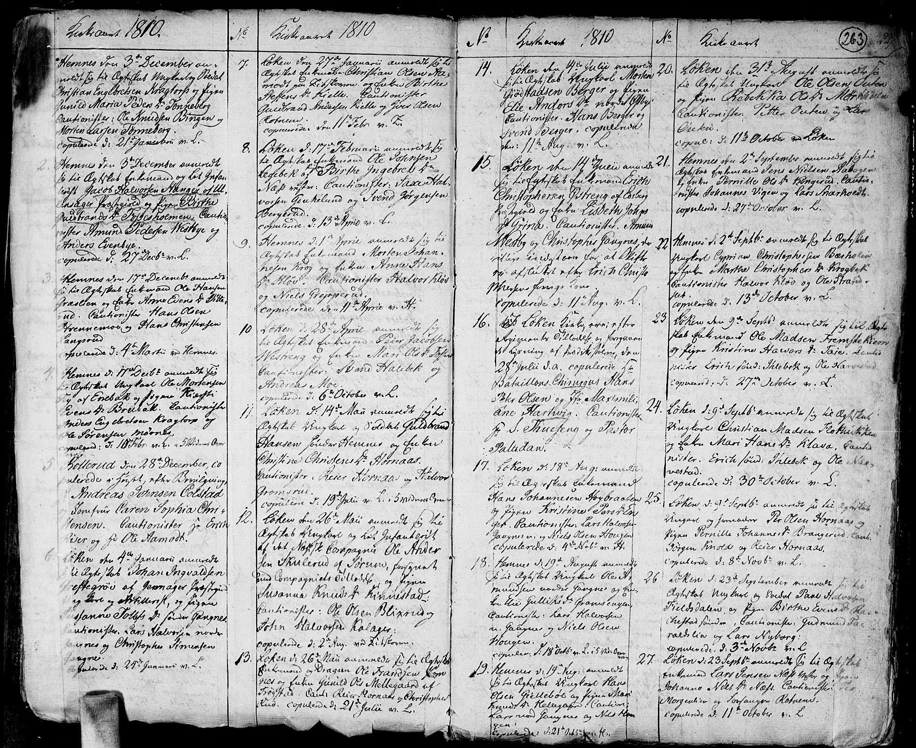 SAO, Høland prestekontor Kirkebøker, F/Fa/L0006: Ministerialbok nr. I 6, 1794-1814, s. 263