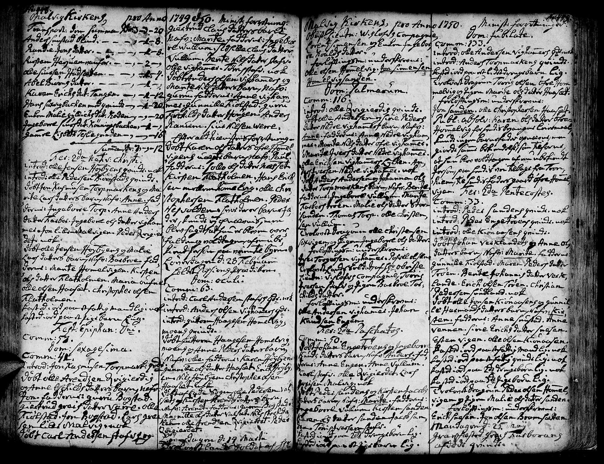 SAT, Ministerialprotokoller, klokkerbøker og fødselsregistre - Sør-Trøndelag, 606/L0277: Ministerialbok nr. 606A01 /3, 1727-1780, s. 448-449