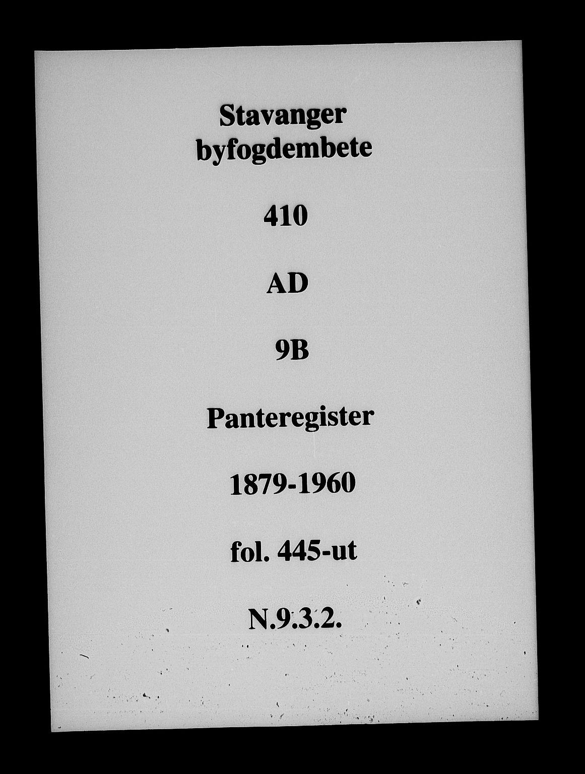 SAST, Stavanger byfogd, 4/41/410/410AD/L0009B: Panteregister nr. AD 9B, 1879
